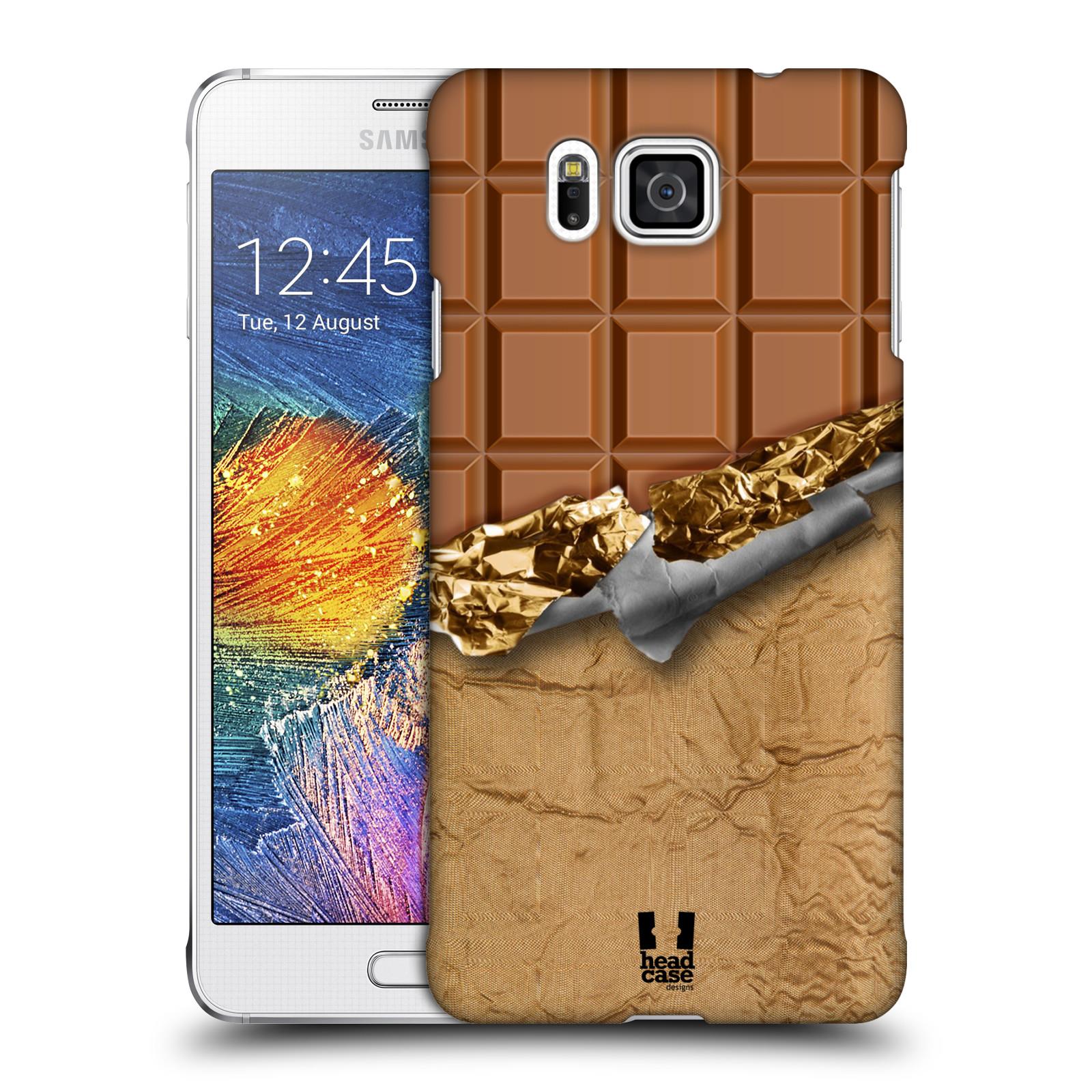 Plastové pouzdro na mobil Samsung Galaxy Alpha HEAD CASE ČOKOFOILED