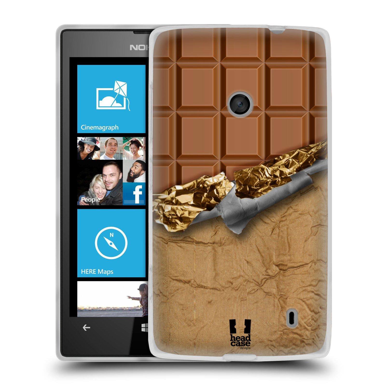 Silikonové pouzdro na mobil Nokia Lumia 520 HEAD CASE ČOKOFOILED (Silikonový Kryt či obal na mobilní telefon Nokia Lumia 520)