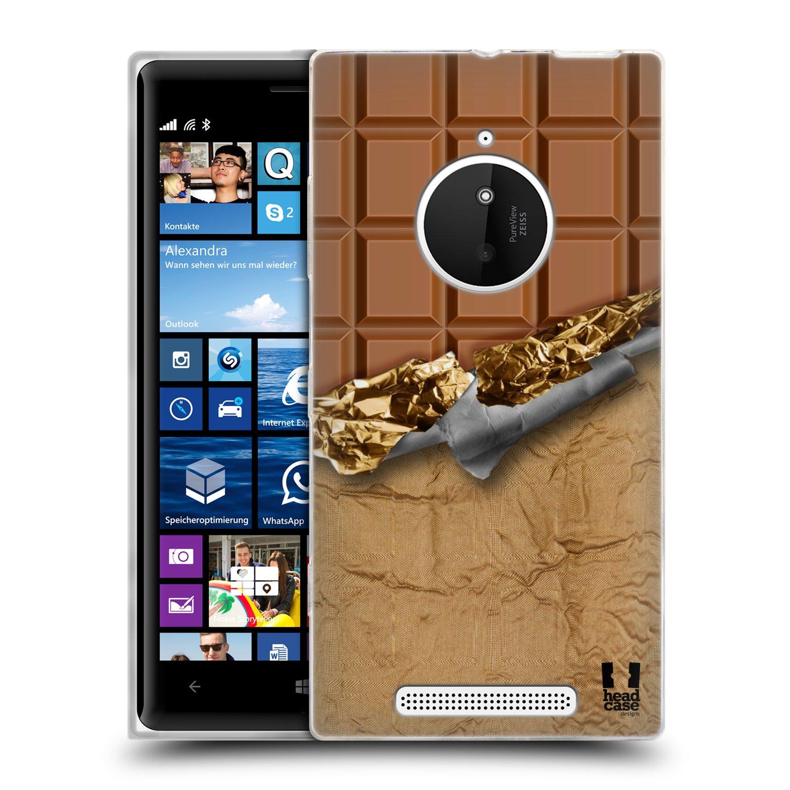 Silikonové pouzdro na mobil Nokia Lumia 830 HEAD CASE ČOKOFOILED (Silikonový kryt či obal na mobilní telefon Nokia Lumia 830)
