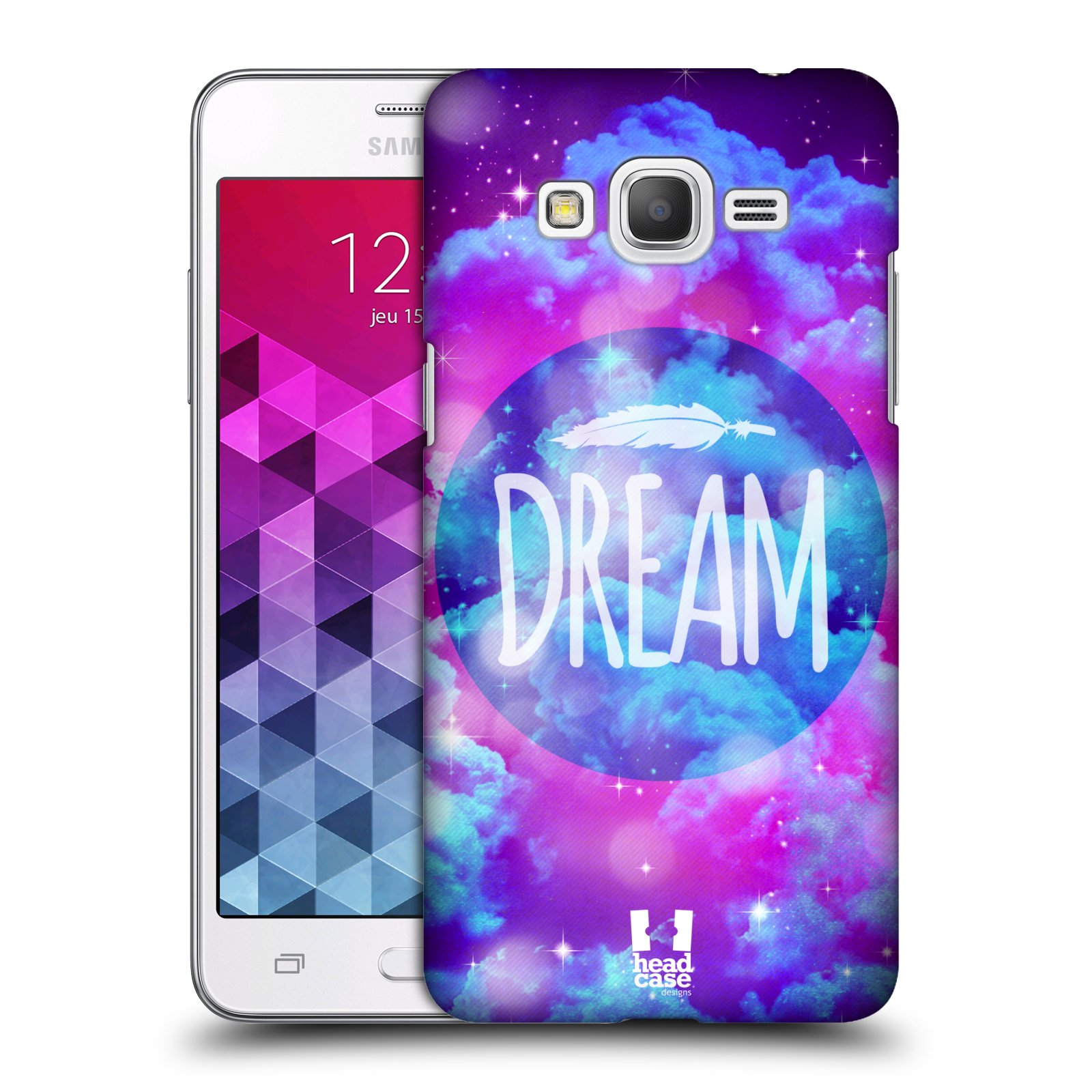Plastové pouzdro na mobil Samsung Galaxy Grand Prime VE HEAD CASE CHROMATIC DREAM