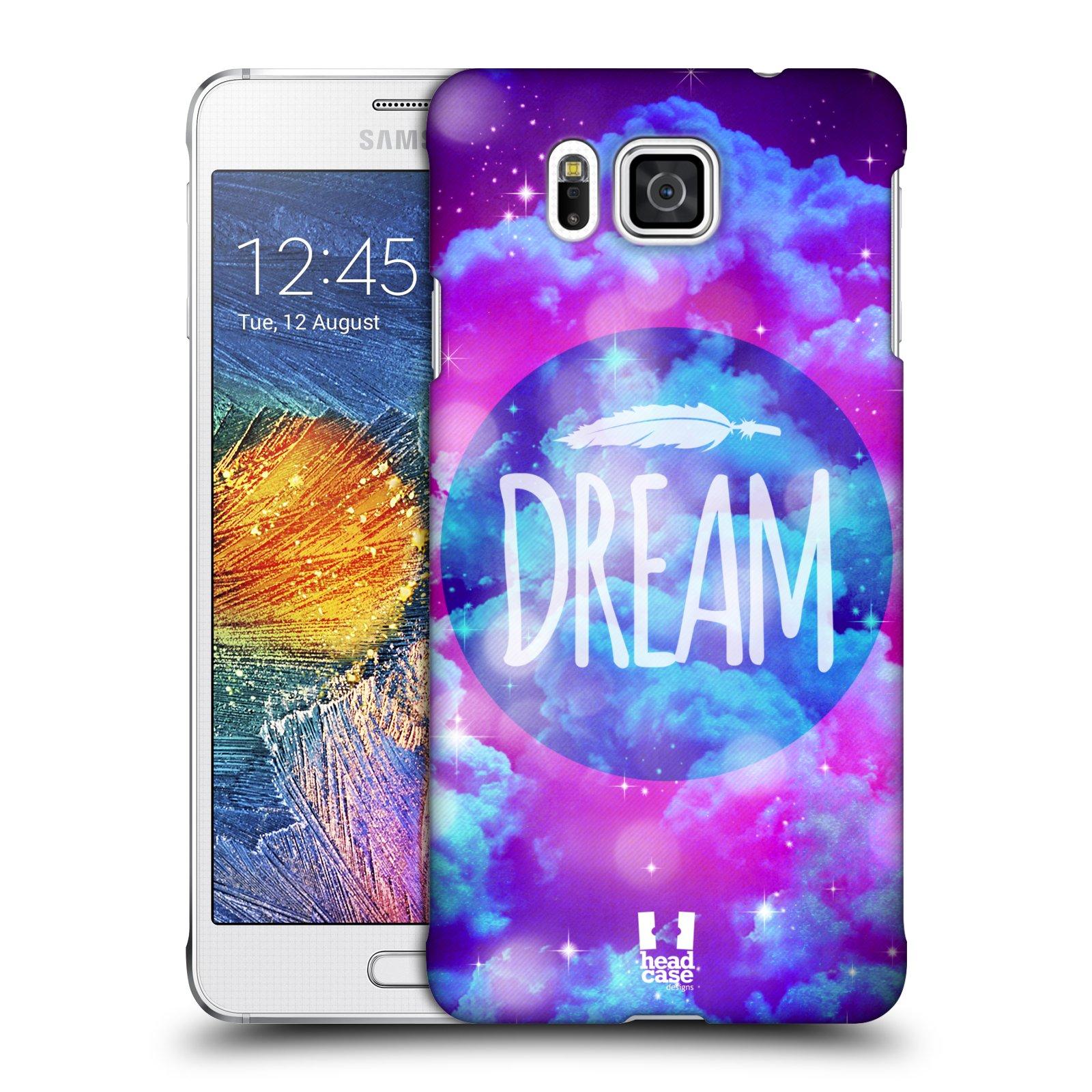 Plastové pouzdro na mobil Samsung Galaxy Alpha HEAD CASE CHROMATIC DREAM