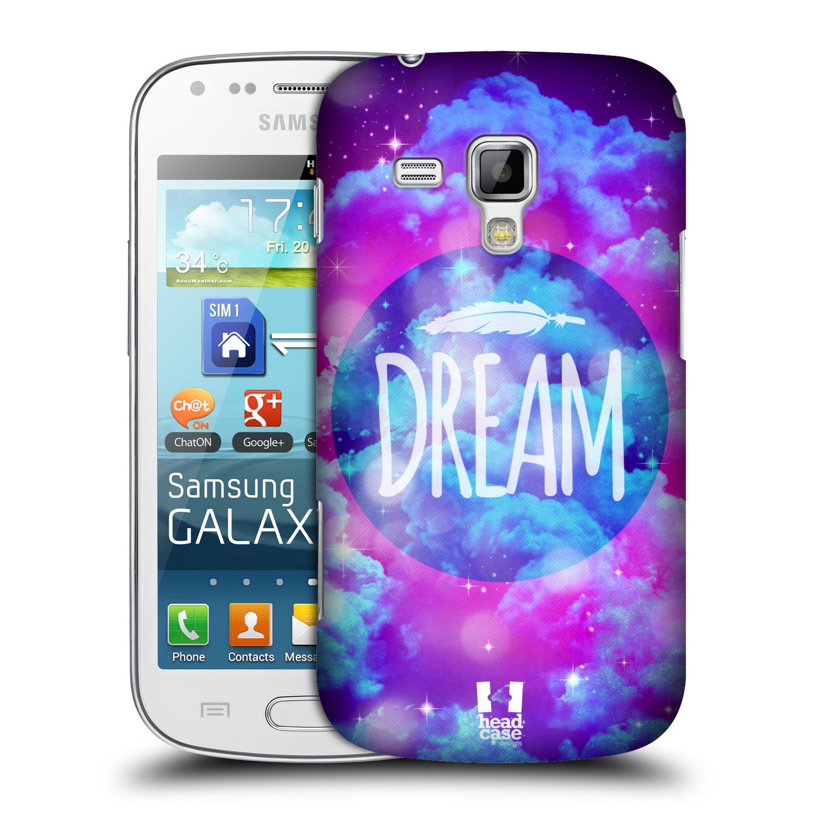 Plastové pouzdro na mobil Samsung Galaxy Trend Plus HEAD CASE CHROMATIC DREAM