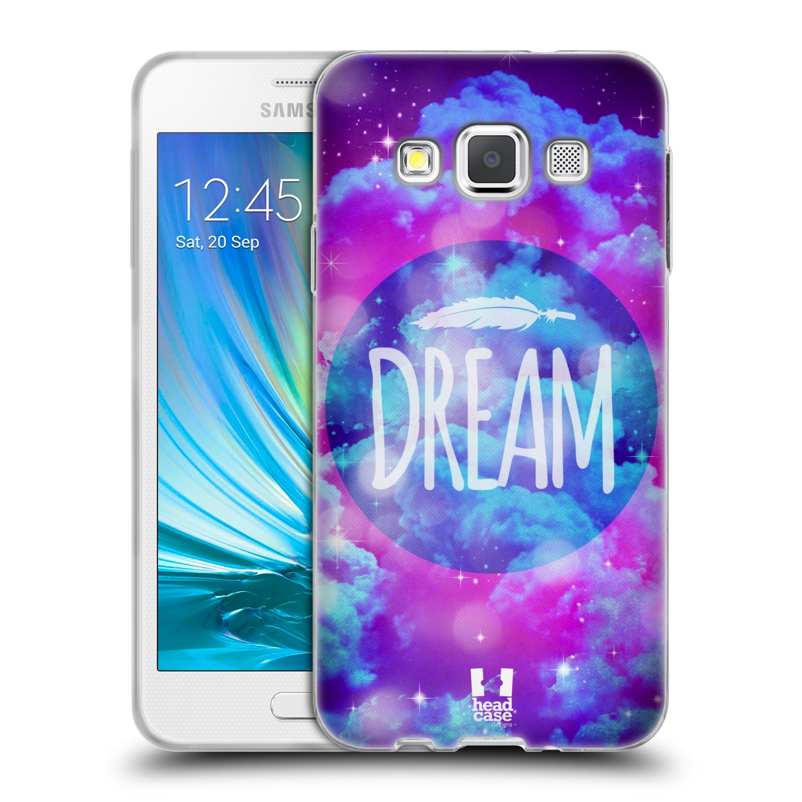 Silikonové pouzdro na mobil Samsung Galaxy A3 HEAD CASE CHROMATIC DREAM