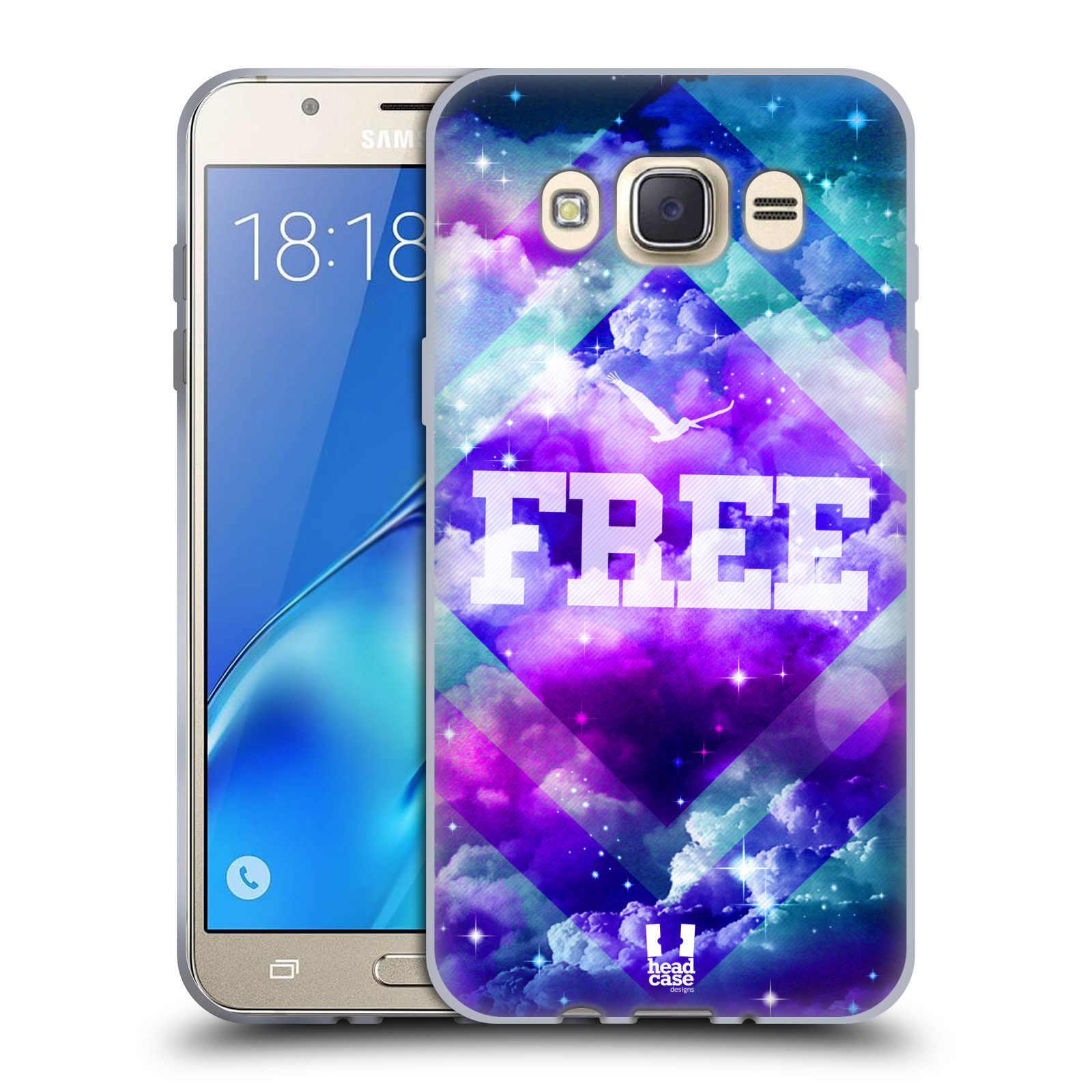 Silikonové pouzdro na mobil Samsung Galaxy J7 (2016) HEAD CASE CHROMATIC FREE