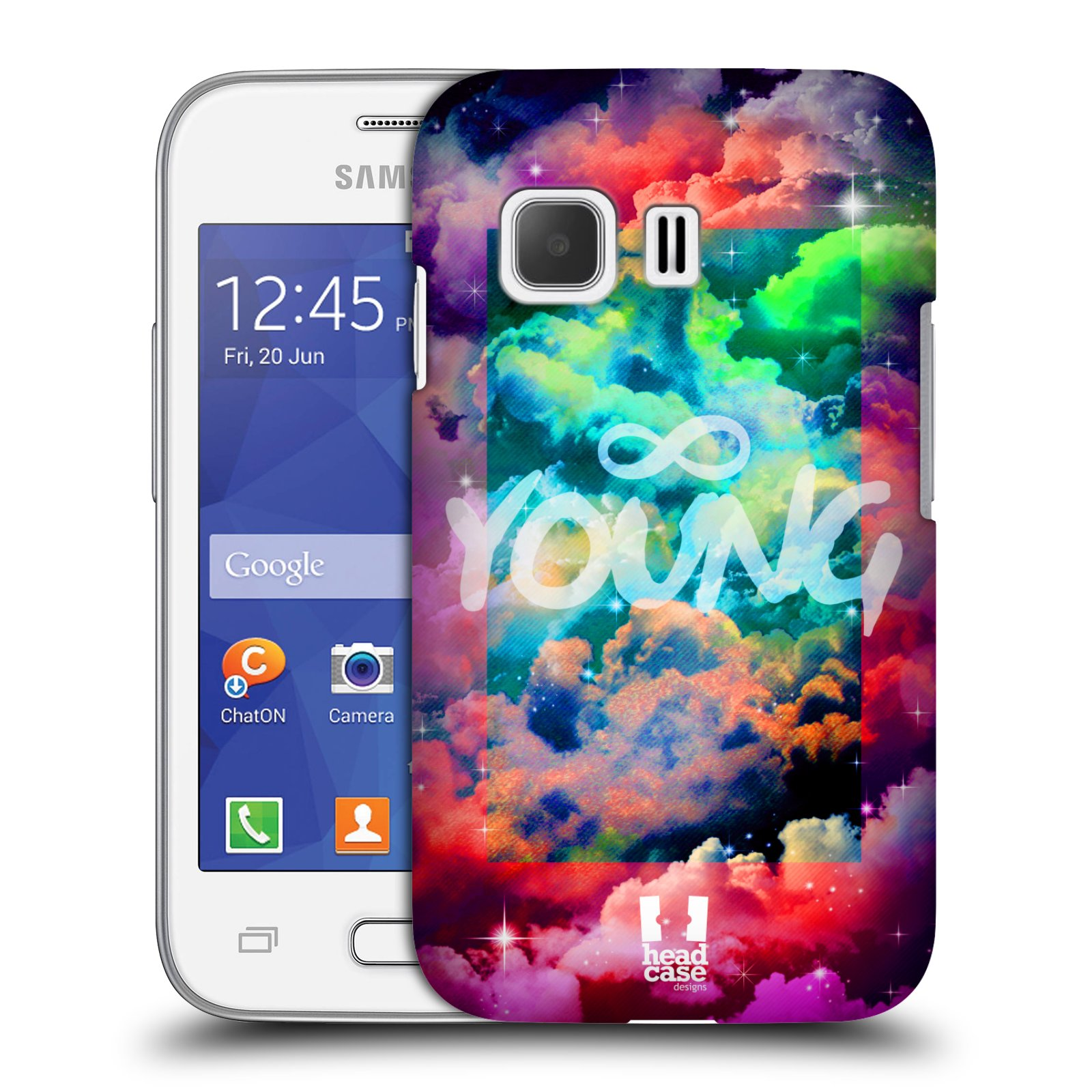 Plastové pouzdro na mobil Samsung Galaxy Young 2 HEAD CASE CHROMATIC YOUNG (Kryt či obal na mobilní telefon Samsung Galaxy Young 2 SM-G130)