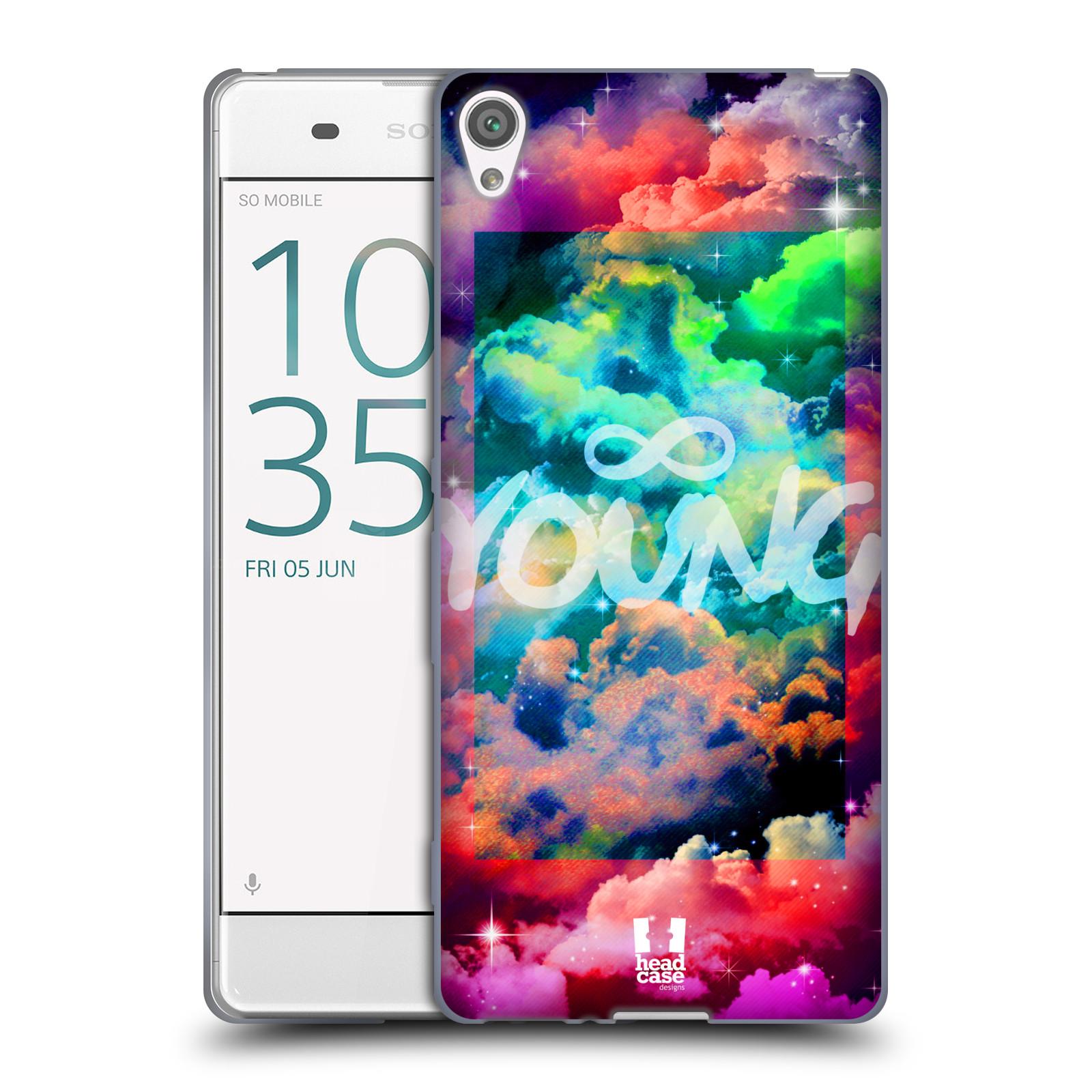 Silikonové pouzdro na mobil Sony Xperia XA HEAD CASE CHROMATIC YOUNG (Silikonový kryt či obal na mobilní telefon Sony Xperia XA F3111 / Dual SIM F3112)