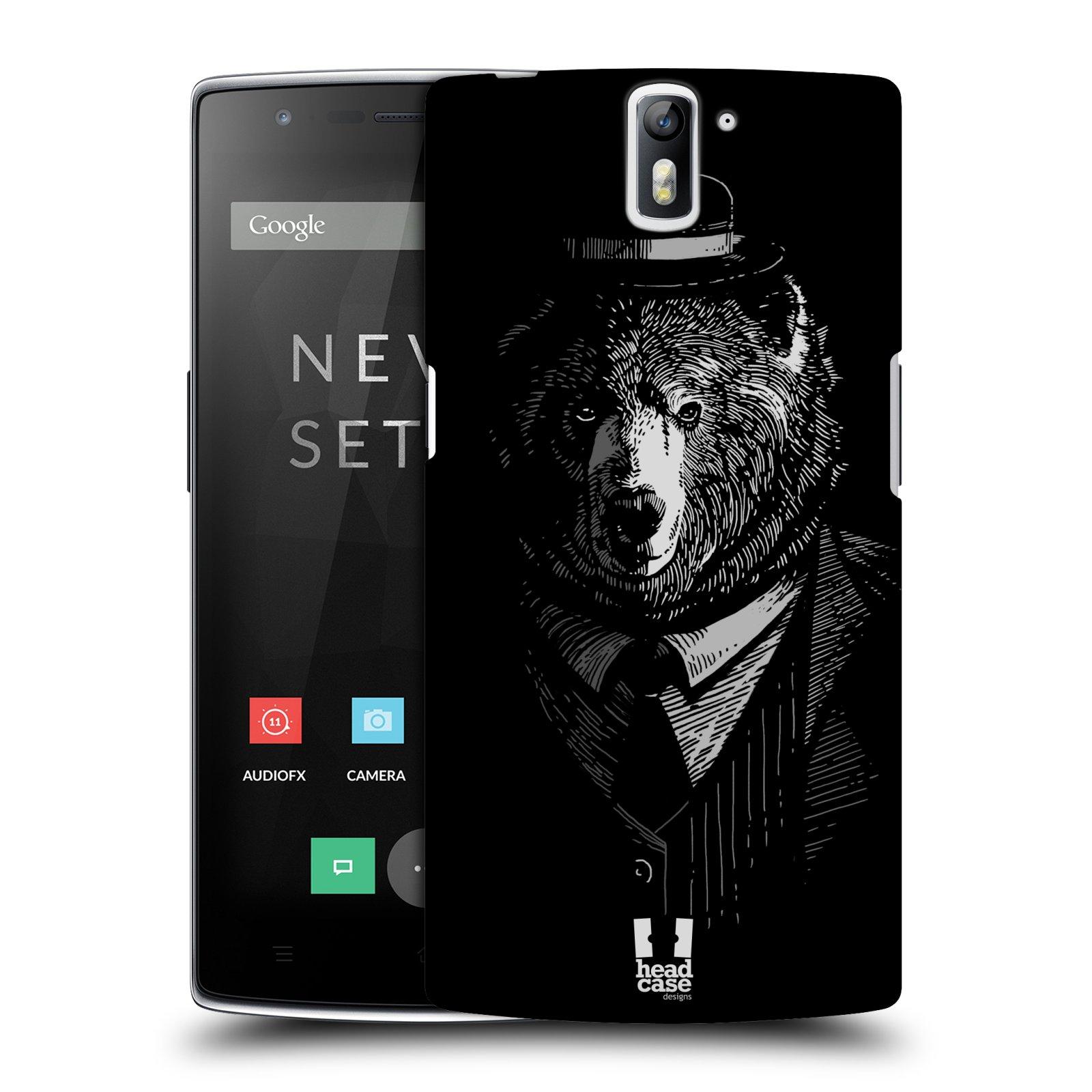 Plastové pouzdro na mobil OnePlus One HEAD CASE MEDVĚD V KVÁDRU (Kryt či obal na mobilní telefon OnePlus One)