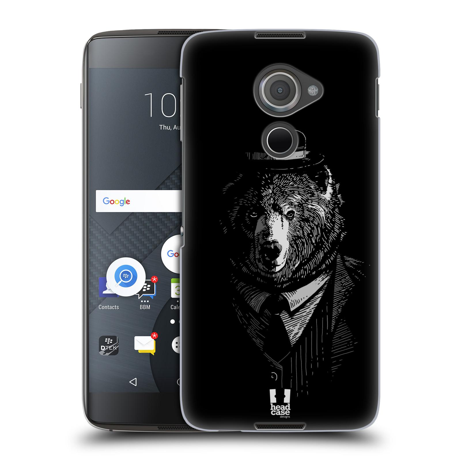Plastové pouzdro na mobil Blackberry DTEK60 (Argon) - Head Case MEDVĚD V KVÁDRU (Plastový kryt či obal na mobilní telefon Blackberry DTEK60 (Argon))