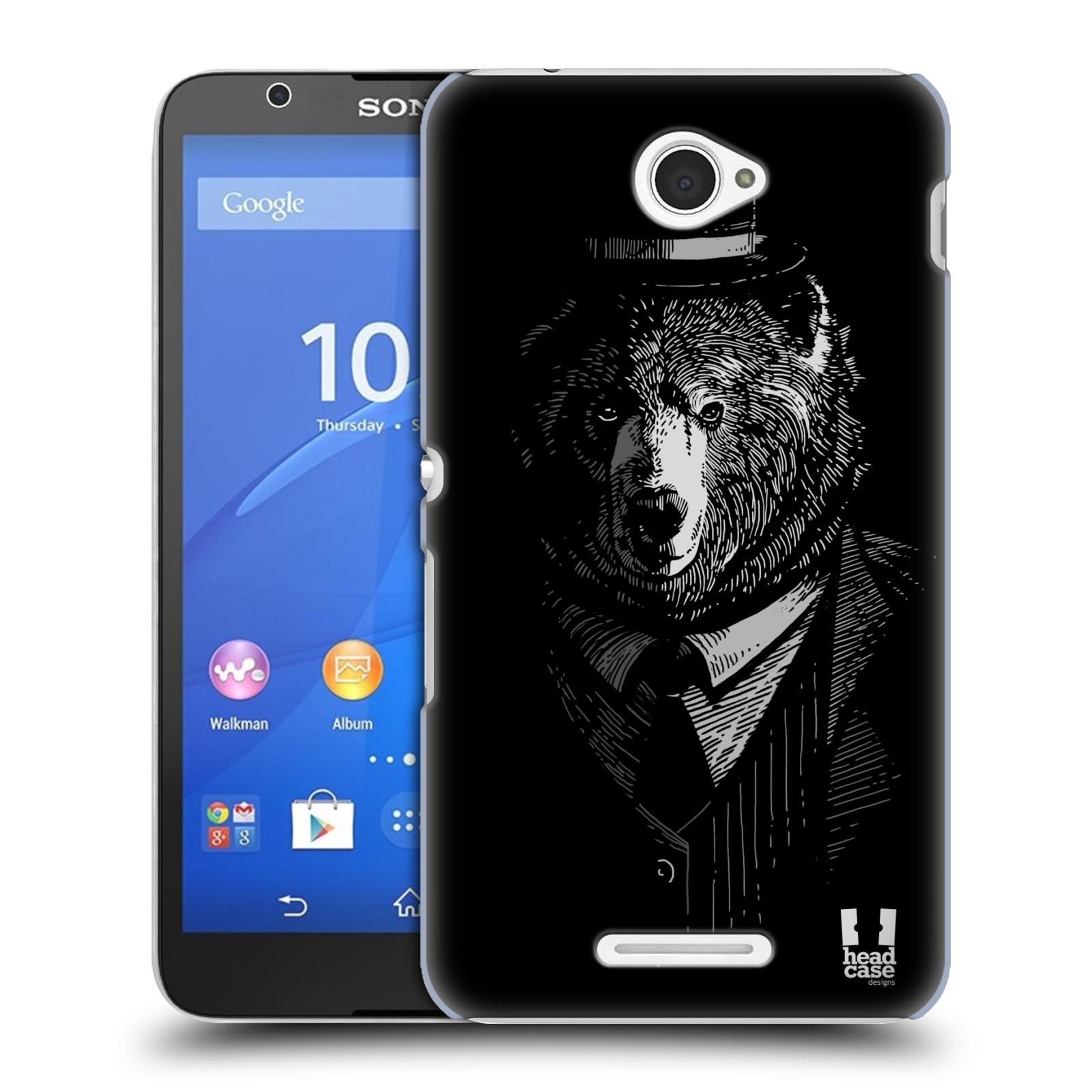 Plastové pouzdro na mobil Sony Xperia E4 E2105 HEAD CASE MEDVĚD V KVÁDRU (Kryt či obal na mobilní telefon Sony Xperia E4 a E4 Dual SIM)