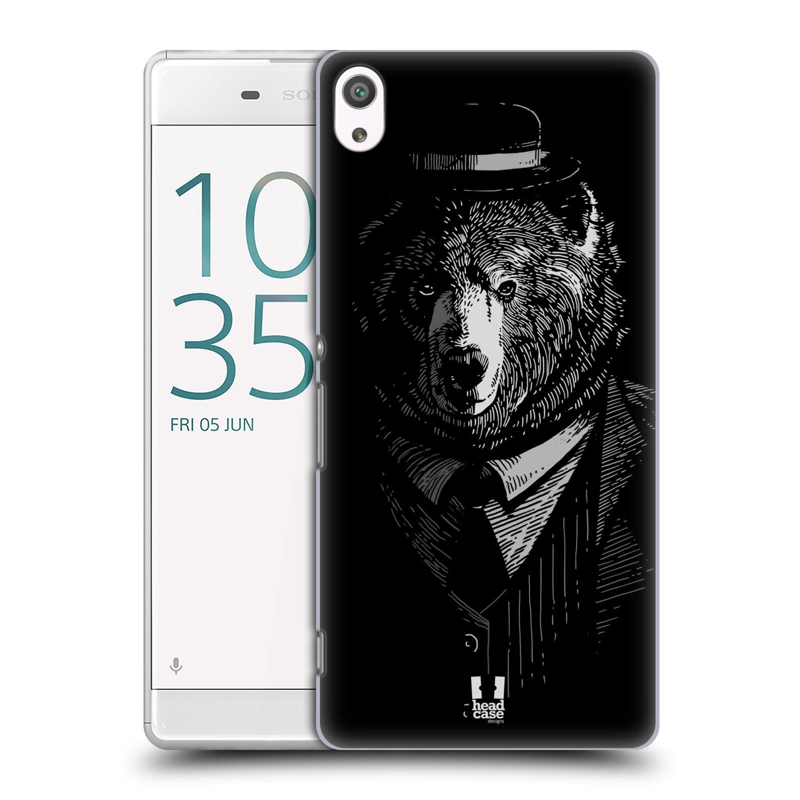 Plastové pouzdro na mobil Sony Xperia XA Ultra HEAD CASE MEDVĚD V KVÁDRU (Plastový kryt či obal na mobilní telefon Sony Xperia XA Ultra F3211)