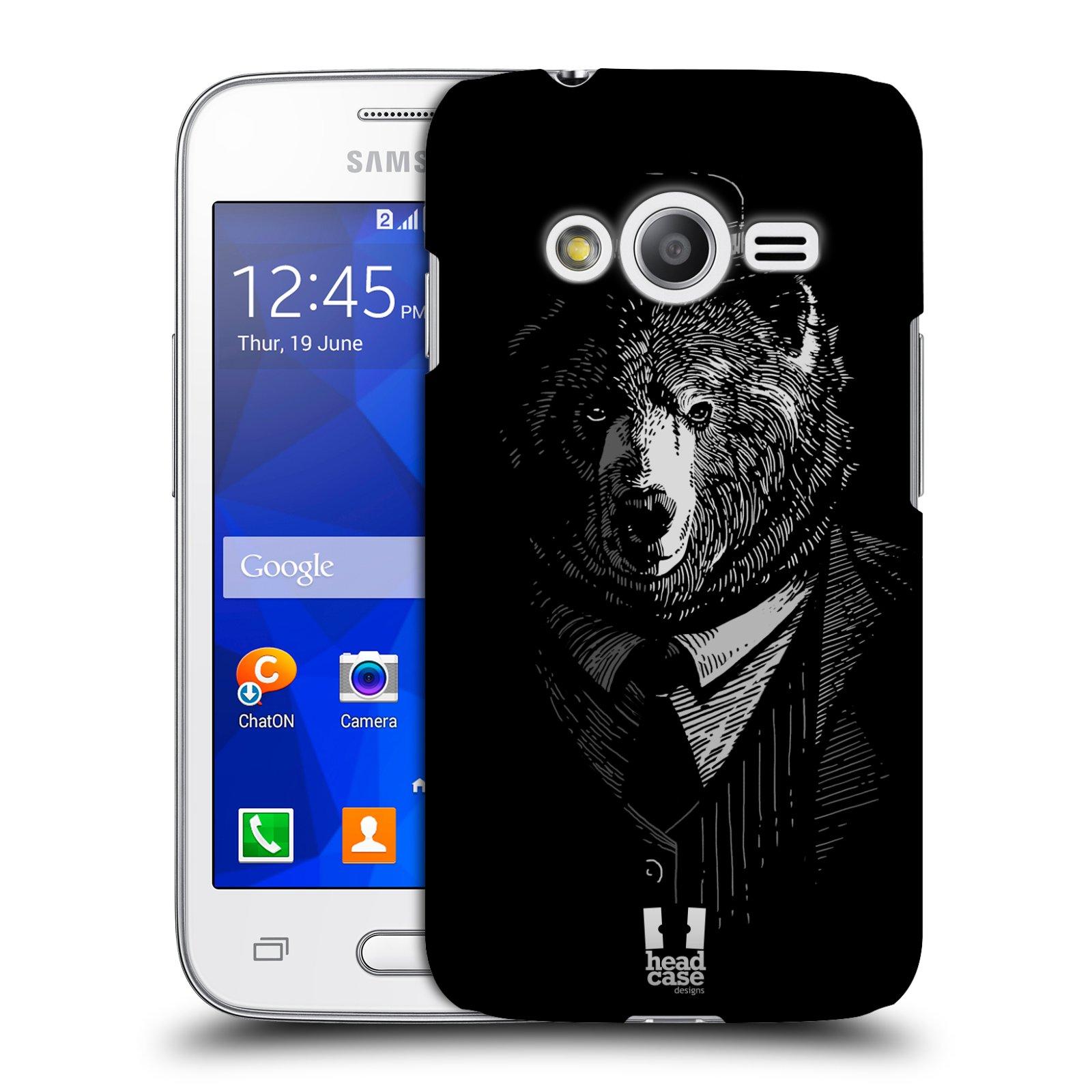 Plastové pouzdro na mobil Samsung Galaxy Trend 2 Lite HEAD CASE MEDVĚD V KVÁDRU (Kryt či obal na mobilní telefon Samsung Galaxy Trend 2 Lite SM-G318)