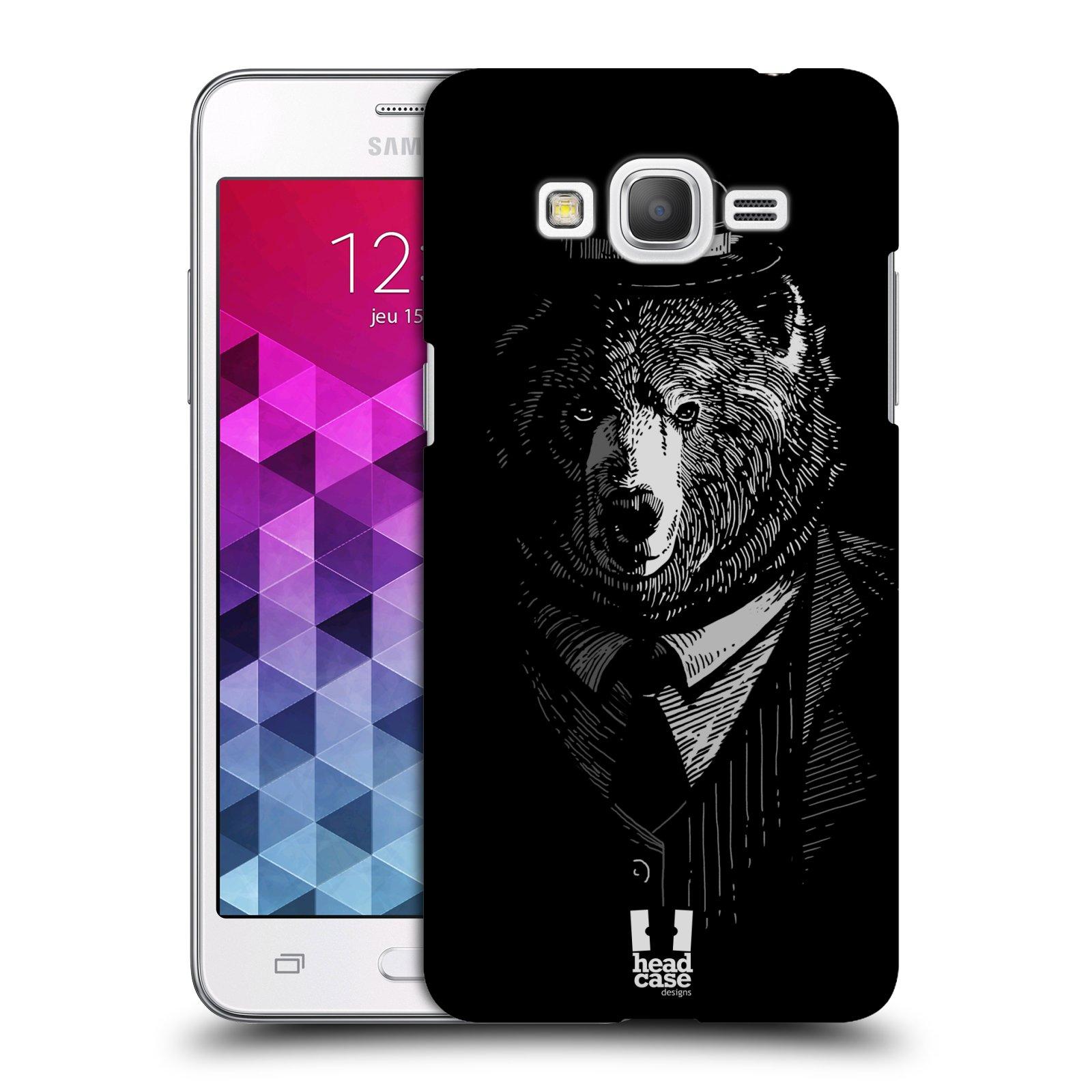 Plastové pouzdro na mobil Samsung Galaxy Grand Prime HEAD CASE MEDVĚD V KVÁDRU