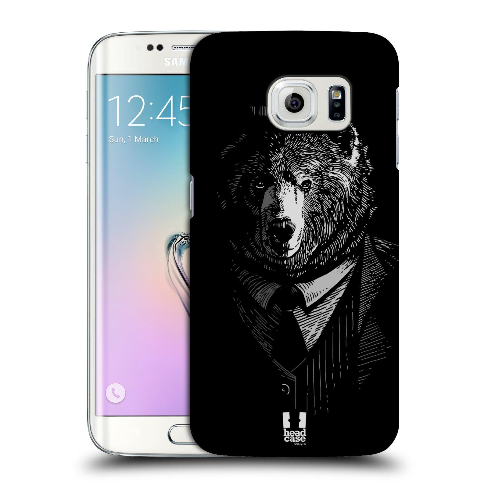 Plastové pouzdro na mobil Samsung Galaxy S6 Edge HEAD CASE MEDVĚD V KVÁDRU (Kryt či obal na mobilní telefon Samsung Galaxy S6 Edge SM-G925F)
