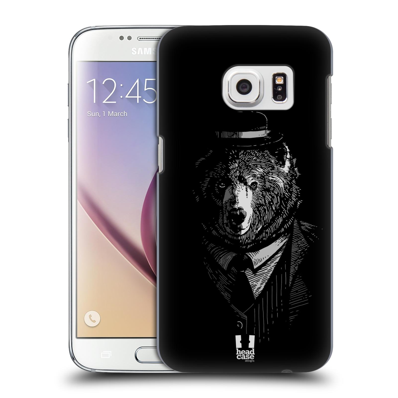 Plastové pouzdro na mobil Samsung Galaxy S7 HEAD CASE MEDVĚD V KVÁDRU (Kryt či obal na mobilní telefon Samsung Galaxy S7 SM-G930F)