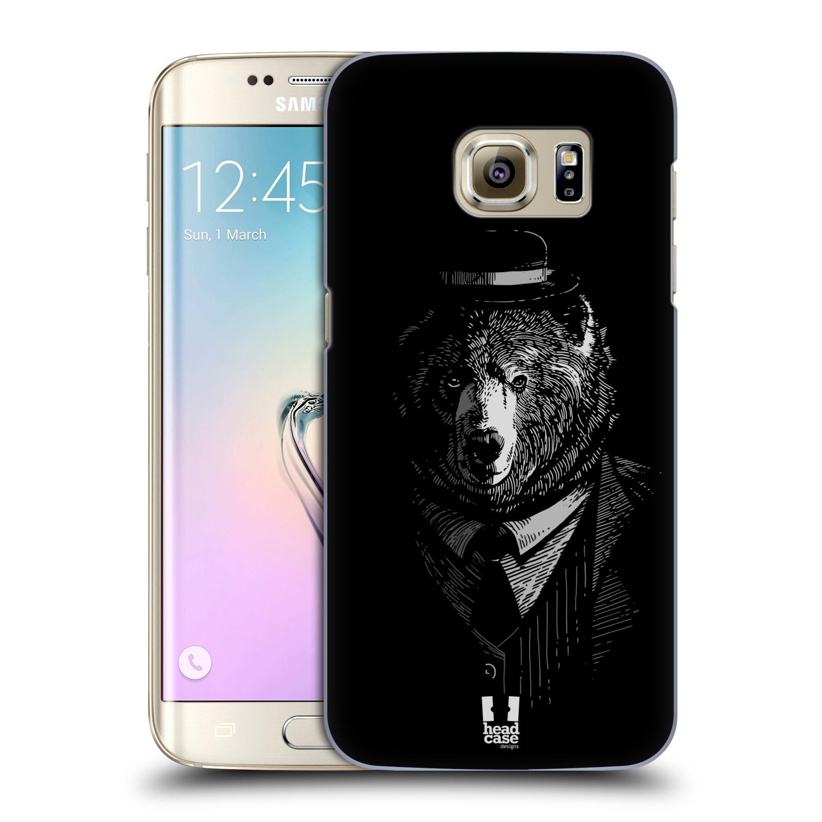 Plastové pouzdro na mobil Samsung Galaxy S7 Edge HEAD CASE MEDVĚD V KVÁDRU (Kryt či obal na mobilní telefon Samsung Galaxy S7 Edge SM-G935F)