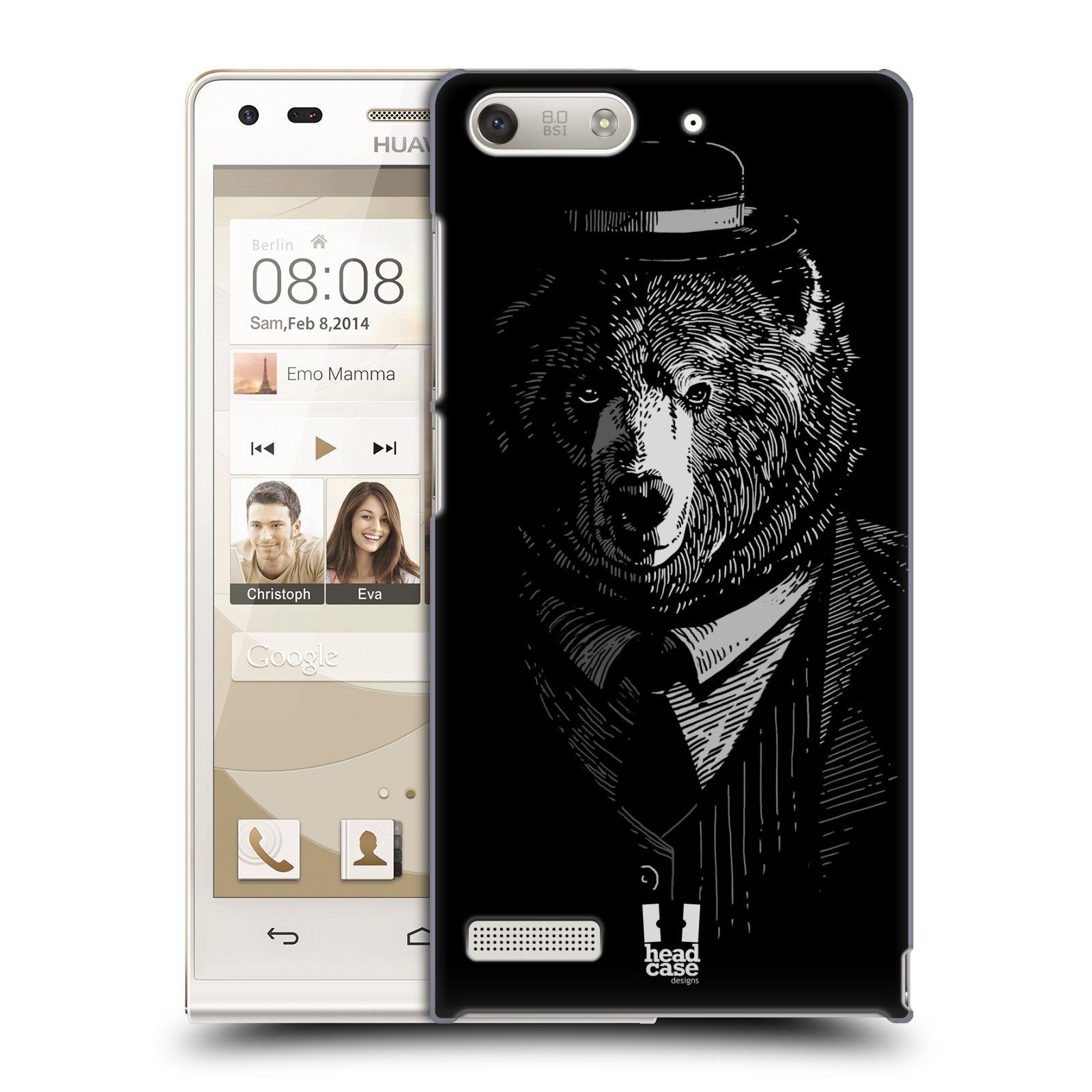 Plastové pouzdro na mobil Huawei Ascend G6 HEAD CASE MEDVĚD V KVÁDRU (Kryt či obal na mobilní telefon Huawei Ascend G6 bez LTE)