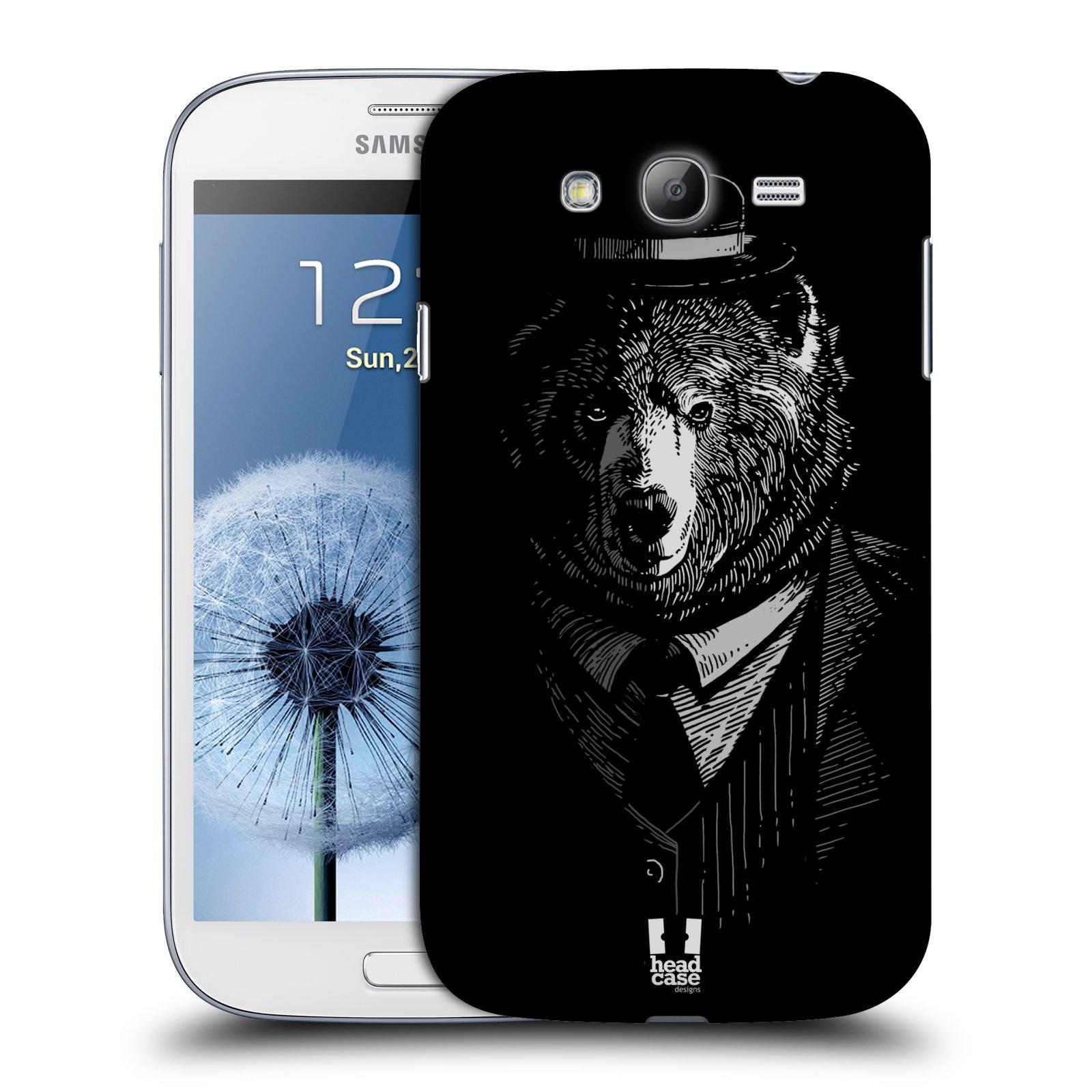 Plastové pouzdro na mobil Samsung Galaxy Grand Neo Plus HEAD CASE MEDVĚD V KVÁDRU (Kryt či obal na mobilní telefon Samsung Galaxy Grand Neo Plus GT-i9060i)