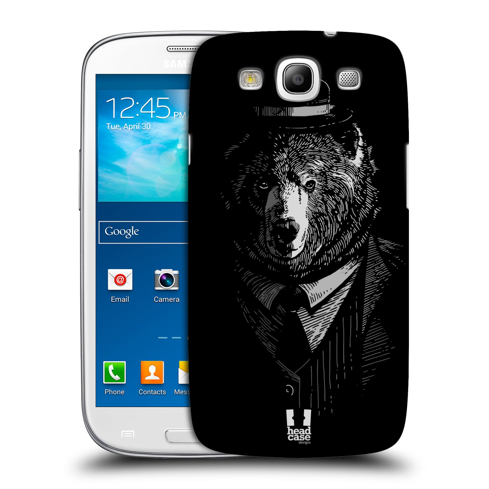 Plastové pouzdro na mobil Samsung Galaxy S3 Neo HEAD CASE MEDVĚD V KVÁDRU