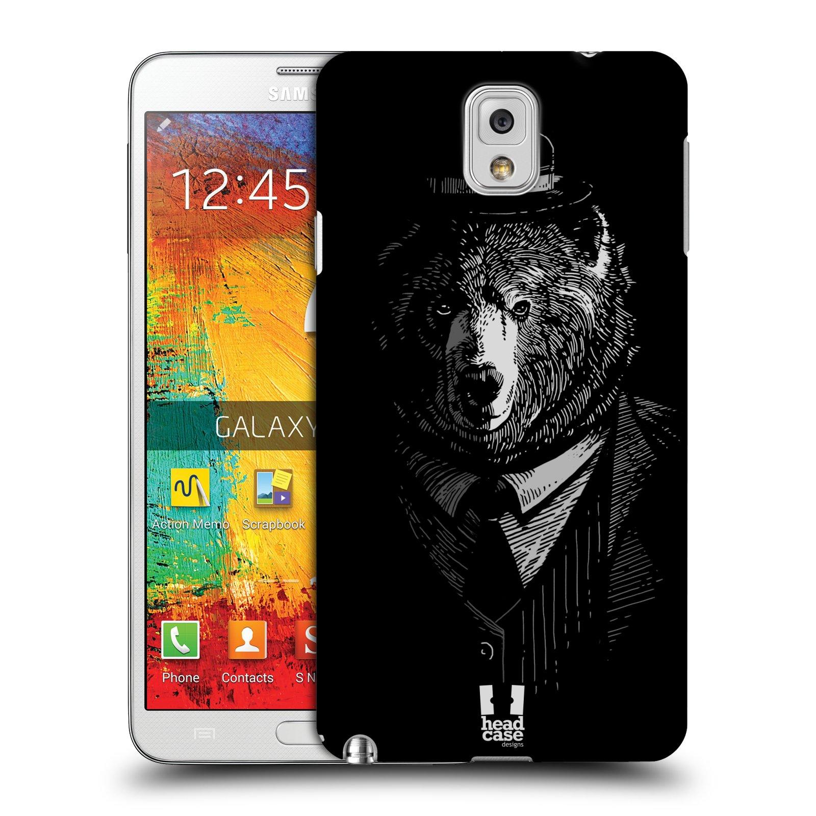 Plastové pouzdro na mobil Samsung Galaxy Note 3 HEAD CASE MEDVĚD V KVÁDRU (Kryt či obal na mobilní telefon Samsung Galaxy Note 3 SM-N9005)