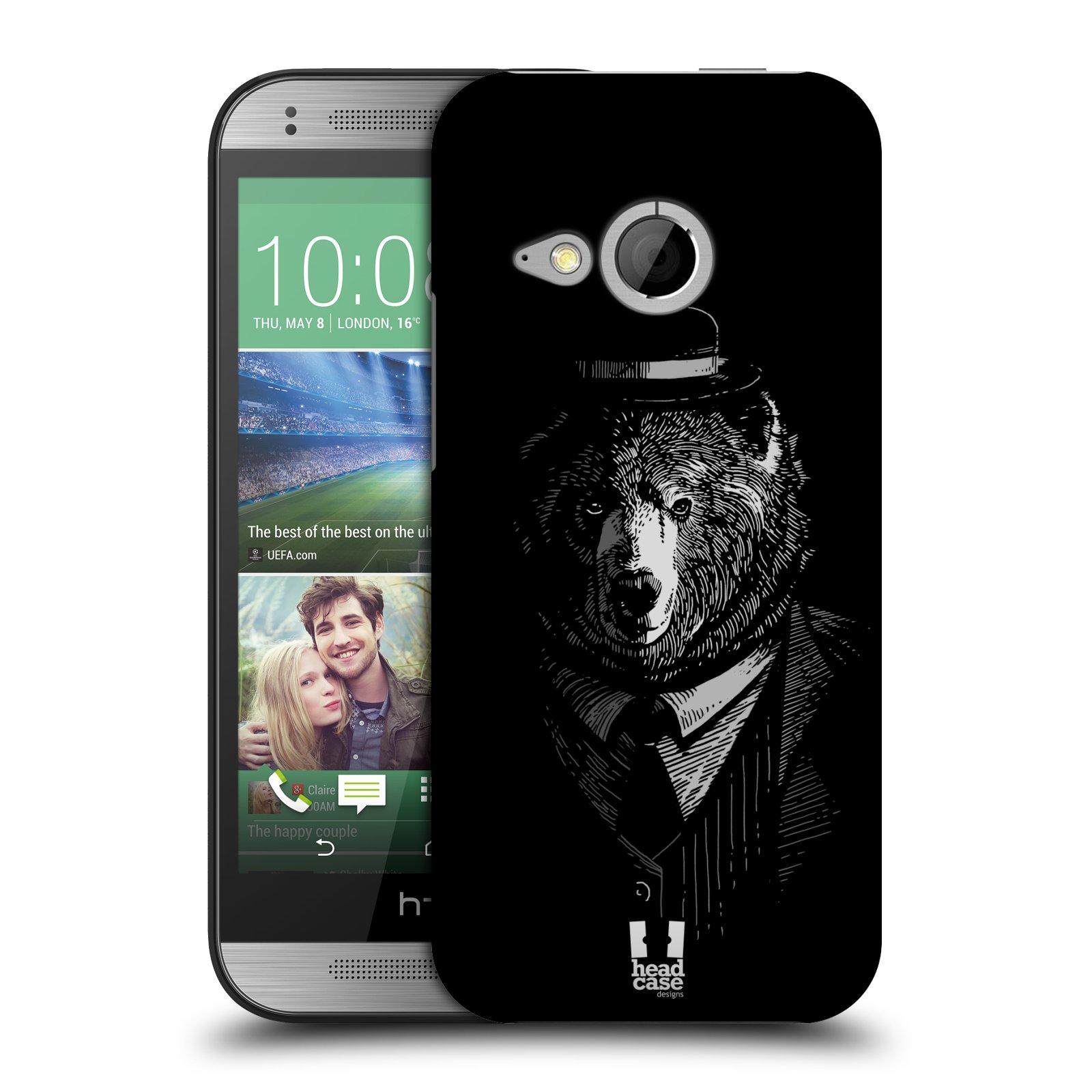 Plastové pouzdro na mobil HTC ONE Mini 2 HEAD CASE MEDVĚD V KVÁDRU (Kryt či obal na mobilní telefon HTC ONE Mini 2)
