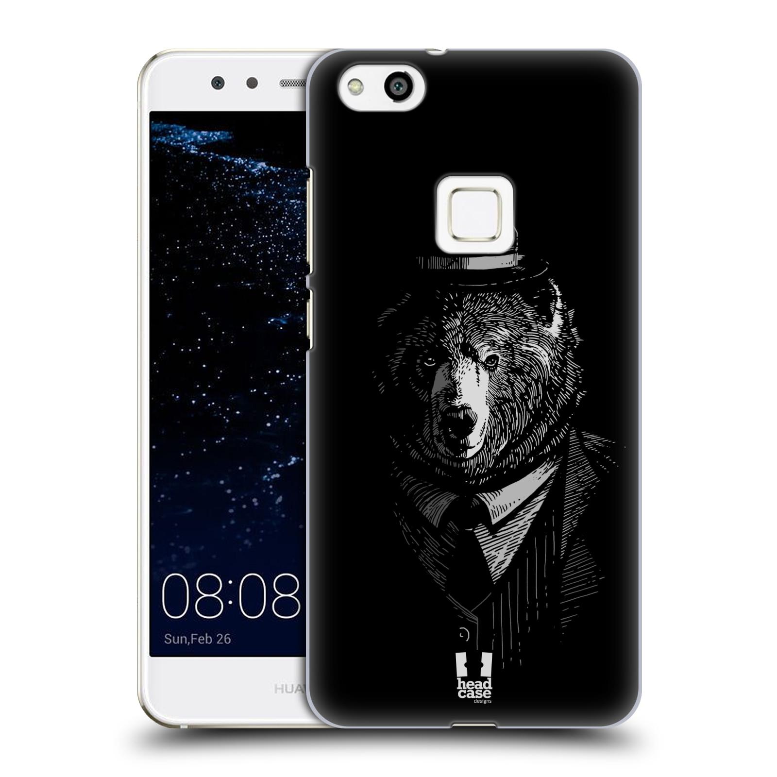 Plastové pouzdro na mobil Huawei P10 Lite Head Case - MEDVĚD V KVÁDRU (Plastový kryt či obal na mobilní telefon Huawei P10 Lite Dual SIM (LX1/LX1A))