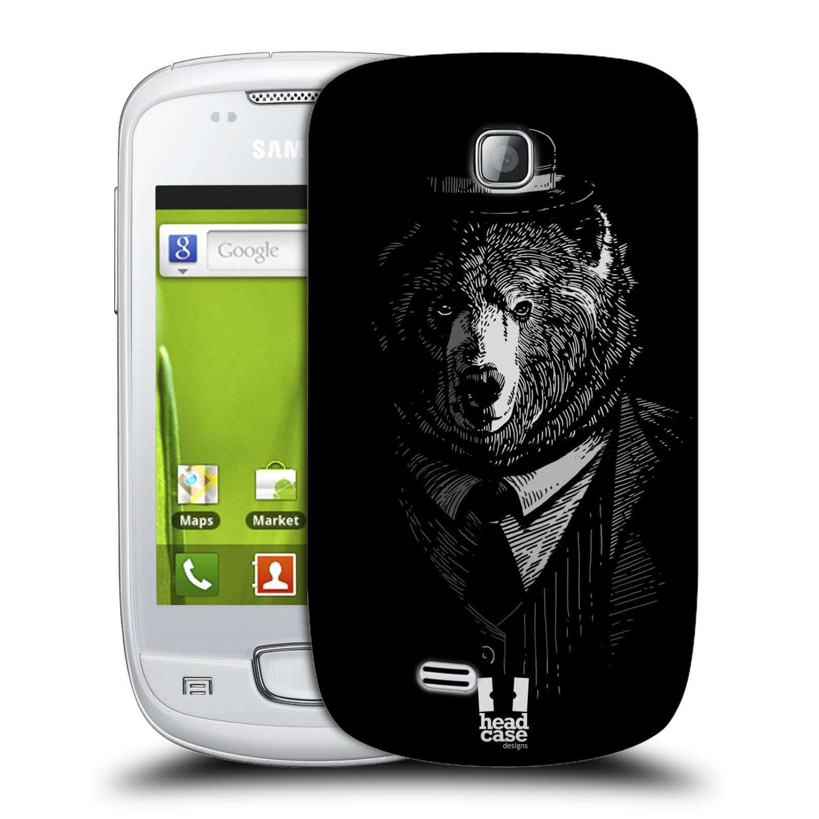 Plastové pouzdro na mobil Samsung Galaxy Mini HEAD CASE MEDVĚD V KVÁDRU (Kryt či obal na mobilní telefon Samsung Galaxy Mini GT-S5570 / GT-S5570i)