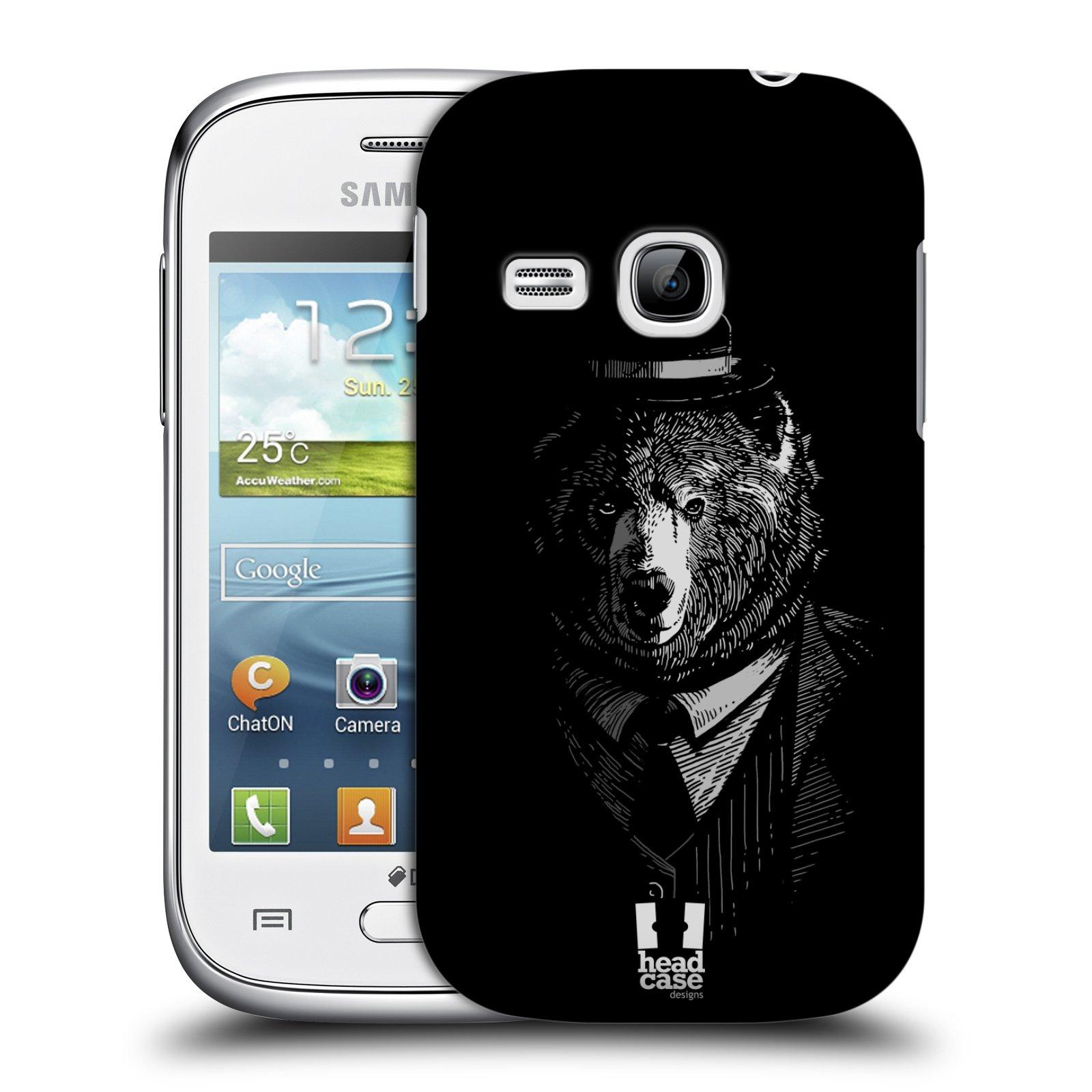 Plastové pouzdro na mobil Samsung Galaxy Young HEAD CASE MEDVĚD V KVÁDRU (Kryt či obal na mobilní telefon Samsung Galaxy Young GT-S6310)