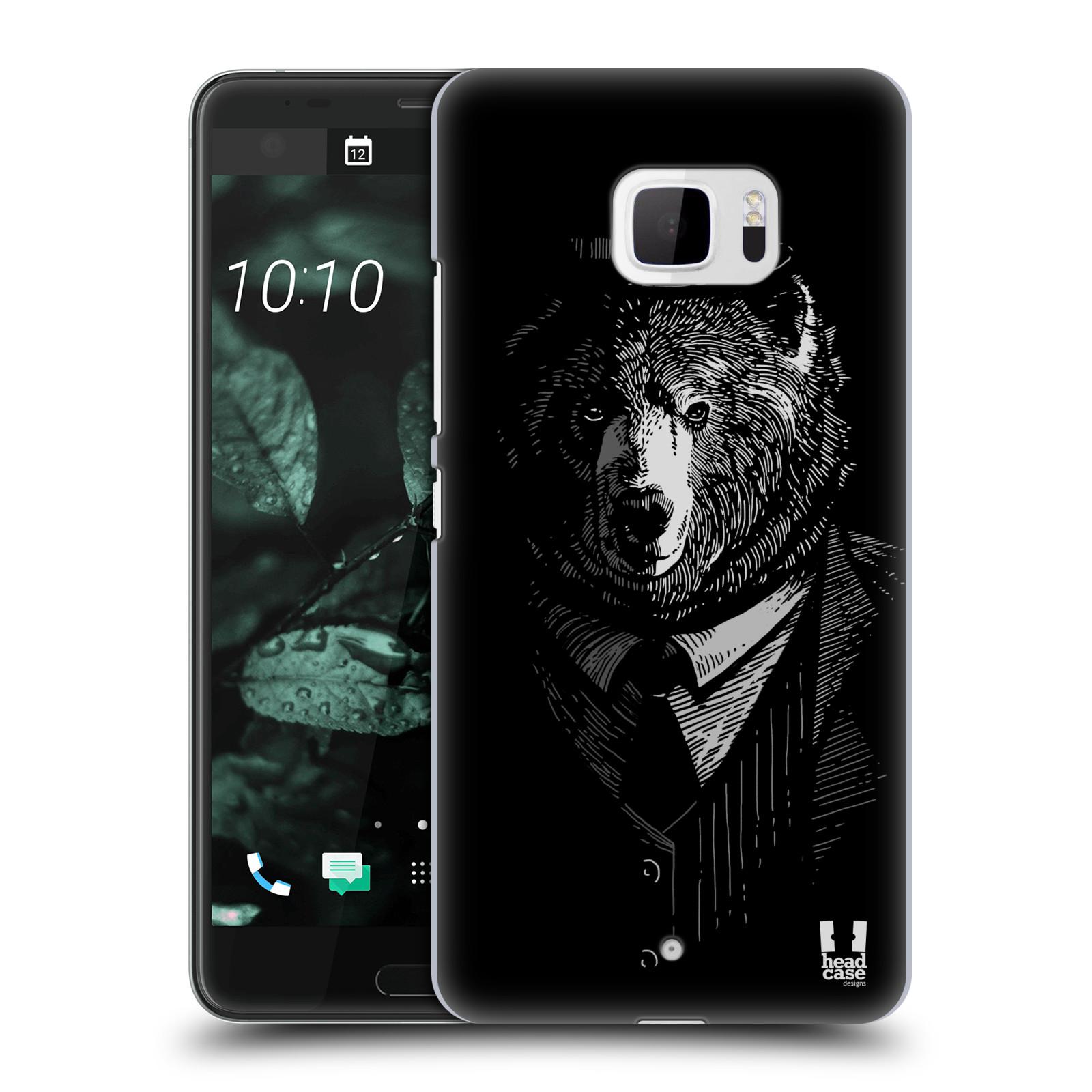 Plastové pouzdro na mobil HTC U Ultra Head Case - MEDVĚD V KVÁDRU (Plastový kryt či obal na mobilní telefon HTC U Ultra (99HALT015-00))