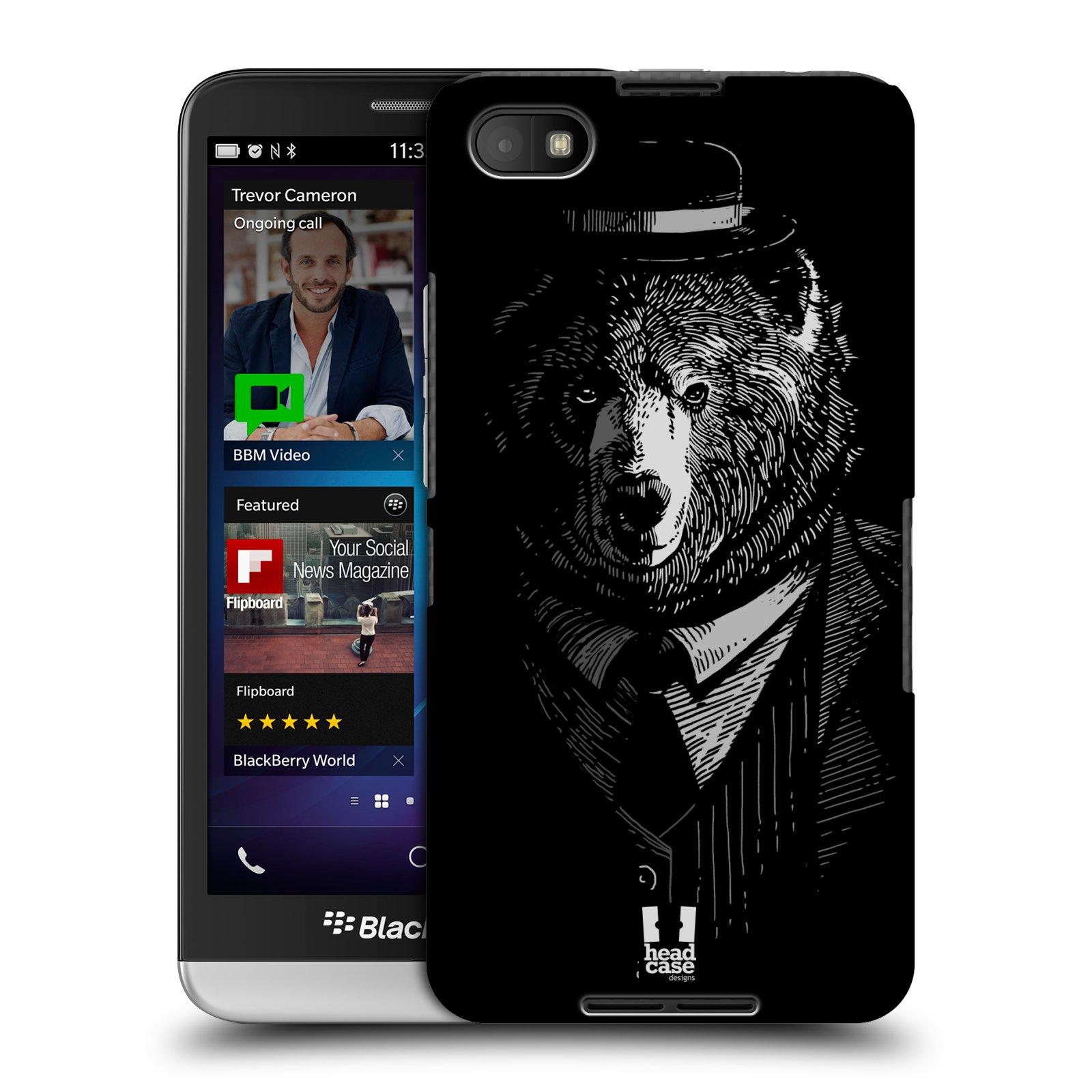 Plastové pouzdro na mobil Blackberry Z30 HEAD CASE MEDVĚD V KVÁDRU (Kryt či obal na mobilní telefon Blackberry Z30)