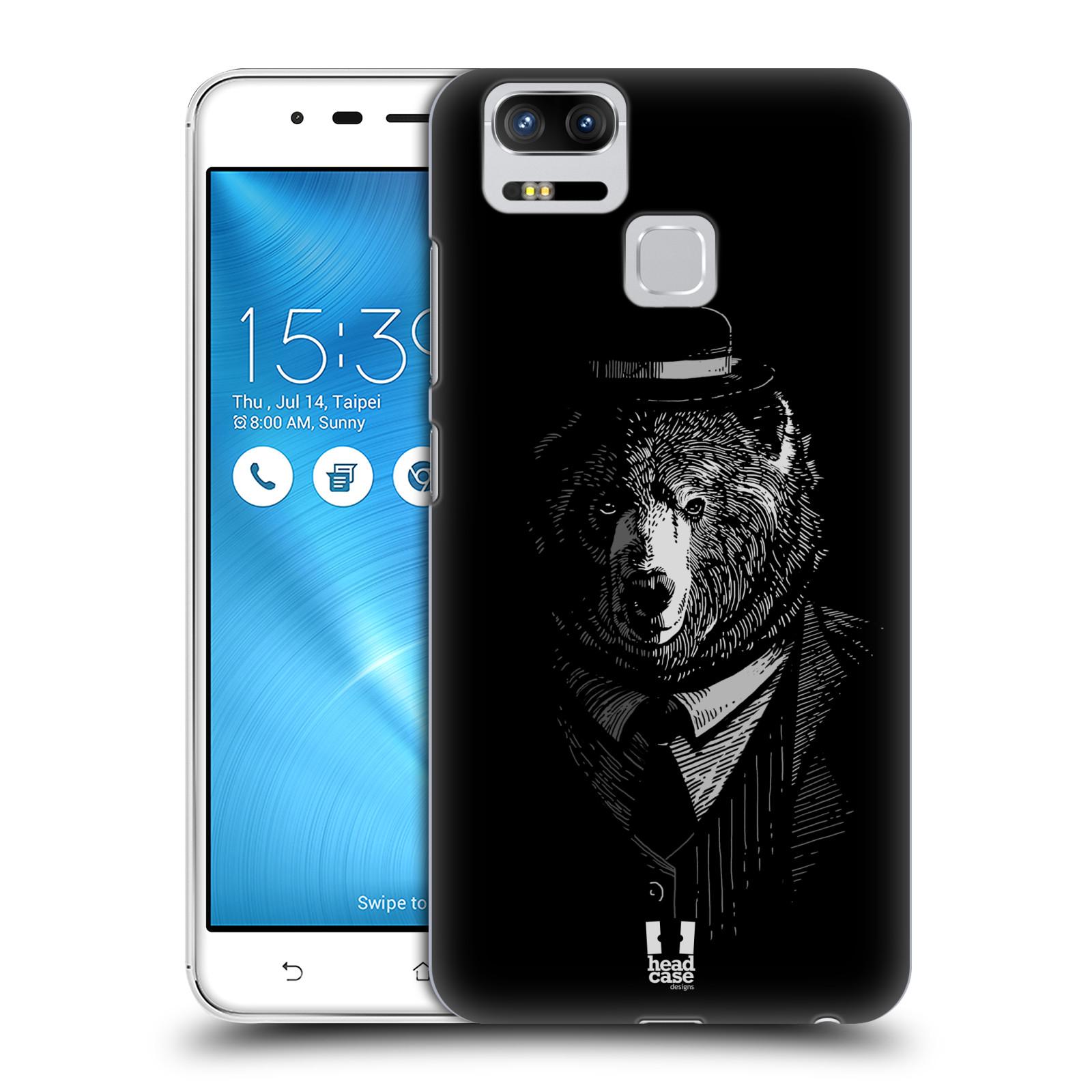 Plastové pouzdro na mobil Asus ZenFone 3 ZOOM ZE553KL - Head Case - MEDVĚD V KVÁDRU (Plastový kryt či obal na mobilní telefon Asus ZenFone 3 ZOOM ZE553KL s motivem MEDVĚD V KVÁDRU)