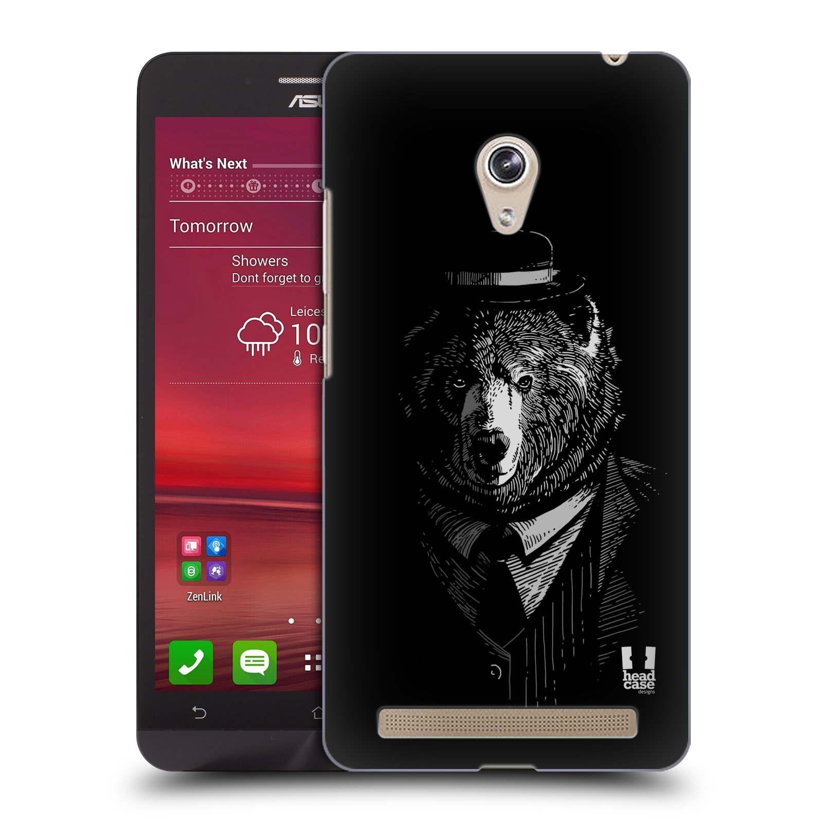 Plastové pouzdro na mobil Asus Zenfone 6 HEAD CASE MEDVĚD V KVÁDRU (Kryt či obal na mobilní telefon Asus Zenfone 6 A600CG / A601CG)