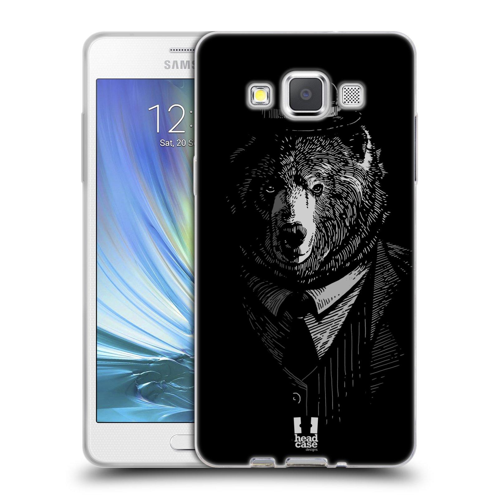 Silikonové pouzdro na mobil Samsung Galaxy A5 HEAD CASE MEDVĚD V KVÁDRU