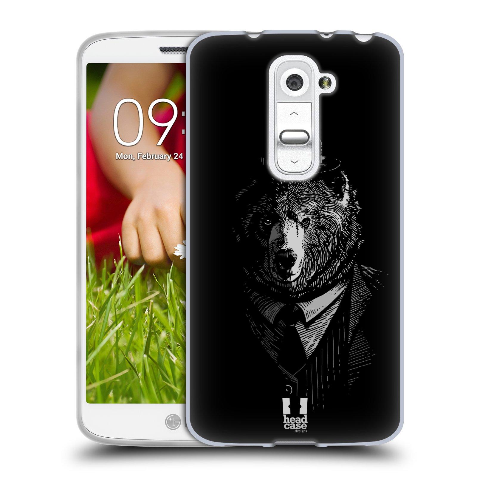 Silikonové pouzdro na mobil LG G2 Mini HEAD CASE MEDVĚD V KVÁDRU (Silikonový kryt či obal na mobilní telefon LG G2 Mini D620)