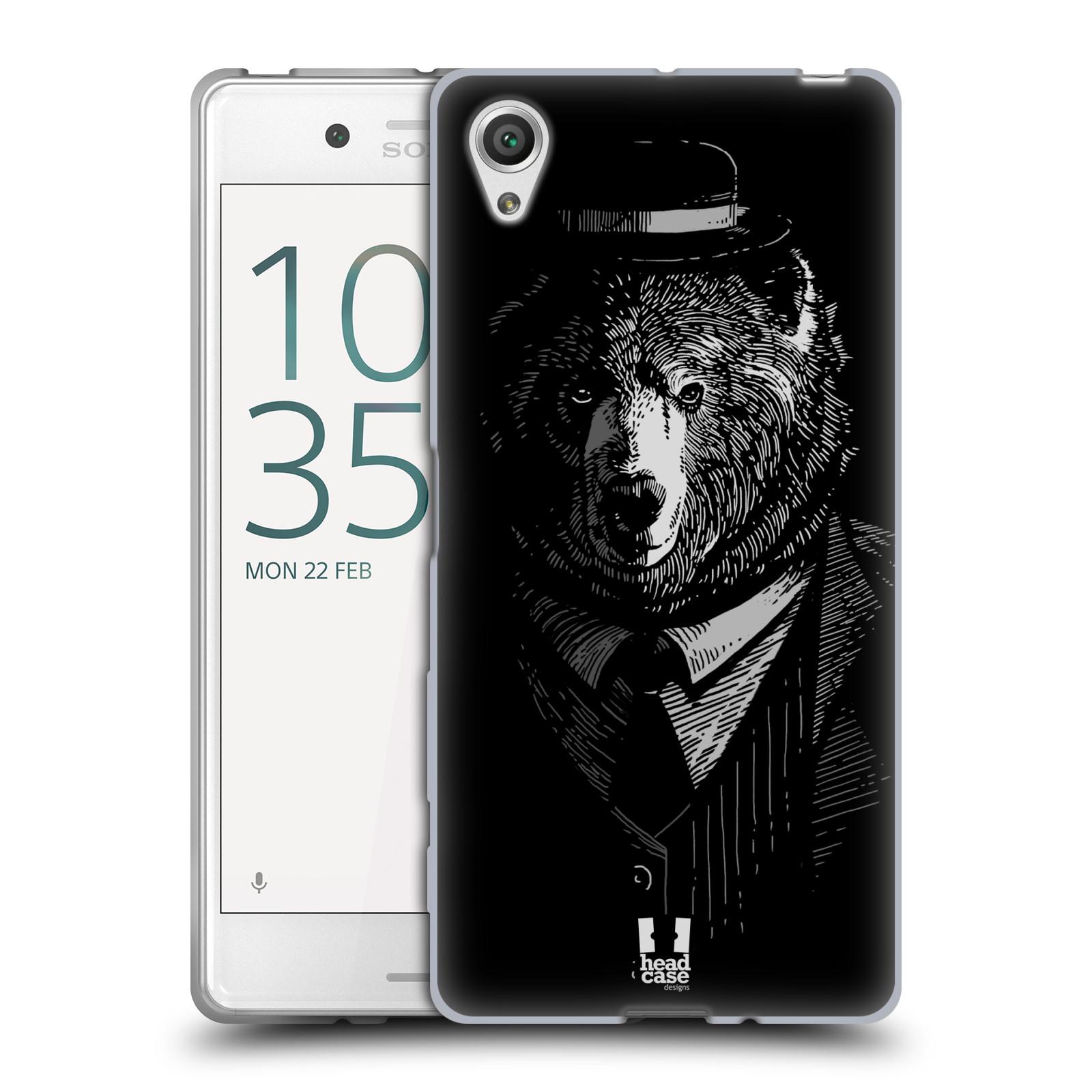 Silikonové pouzdro na mobil Sony Xperia X HEAD CASE MEDVĚD V KVÁDRU (Silikonový kryt či obal na mobilní telefon Sony Xperia X F5121 / Dual SIM F5122)