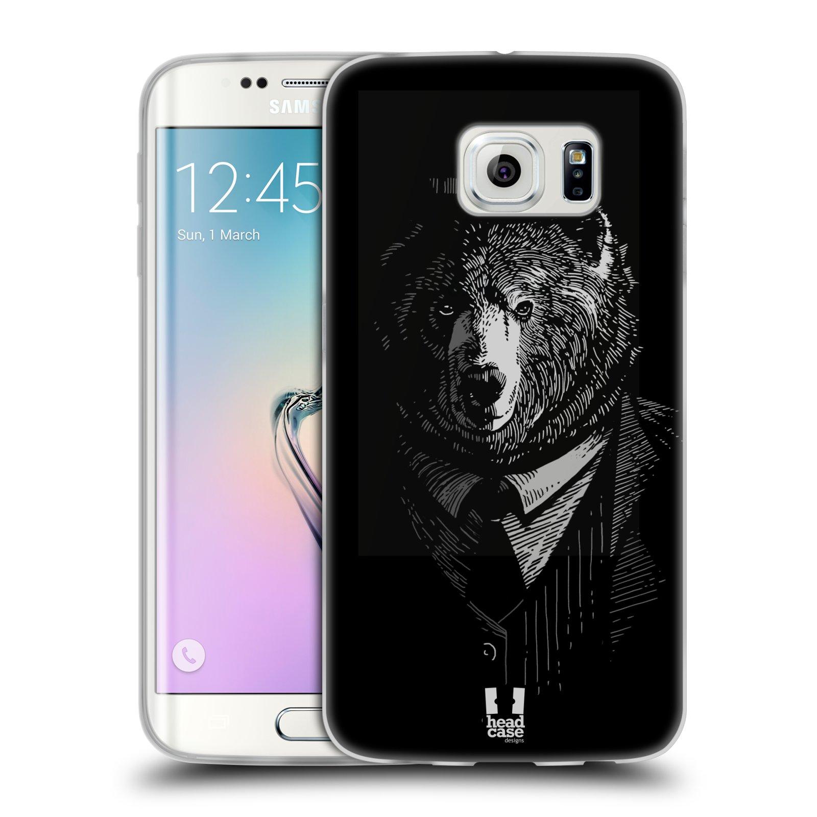 Silikonové pouzdro na mobil Samsung Galaxy S6 Edge HEAD CASE MEDVĚD V KVÁDRU (Silikonový kryt či obal na mobilní telefon Samsung Galaxy S6 Edge SM-G925F)
