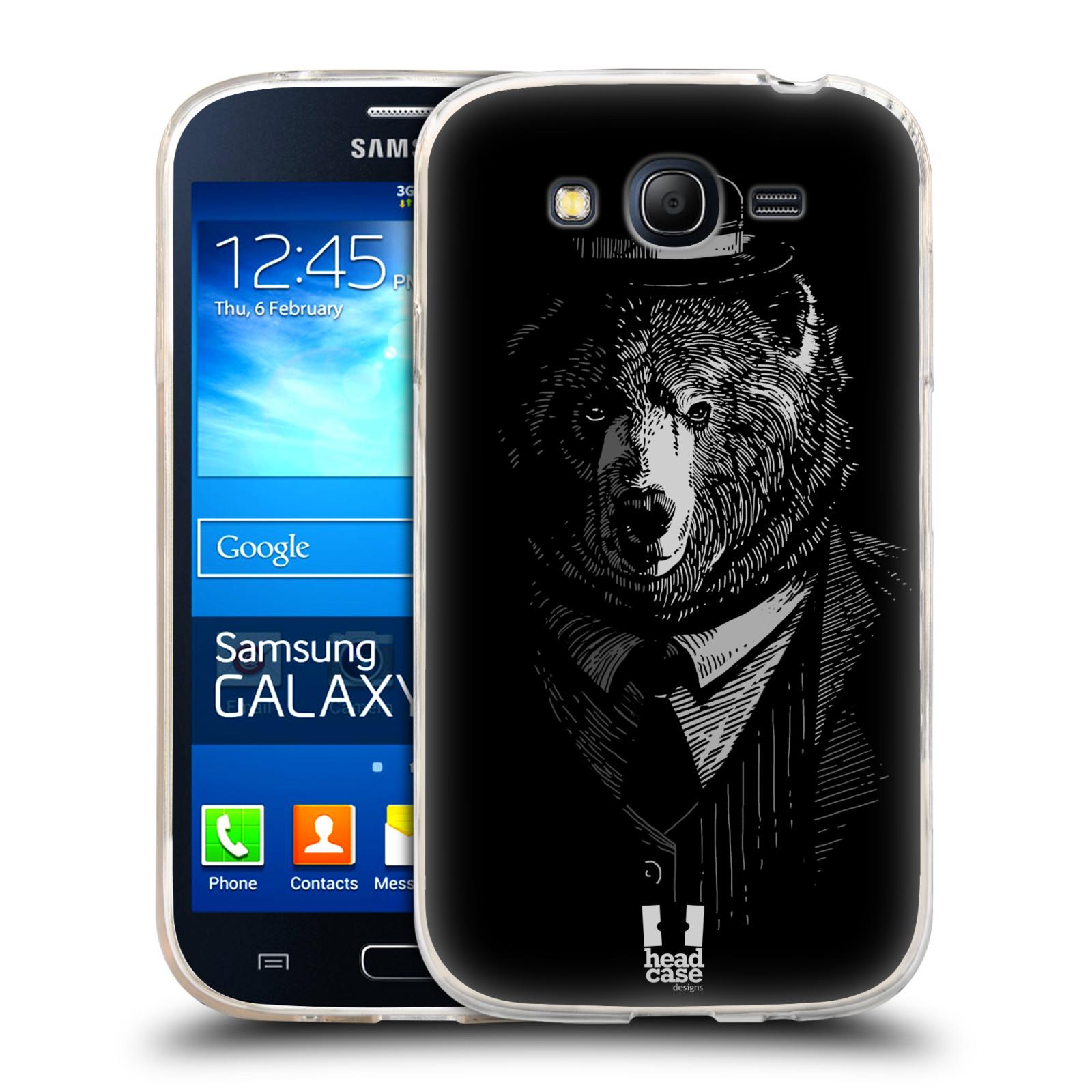 Silikonové pouzdro na mobil Samsung Galaxy Grand Neo HEAD CASE MEDVĚD V KVÁDRU (Silikonový kryt či obal na mobilní telefon Samsung Galaxy Grand Neo GT-I9060)