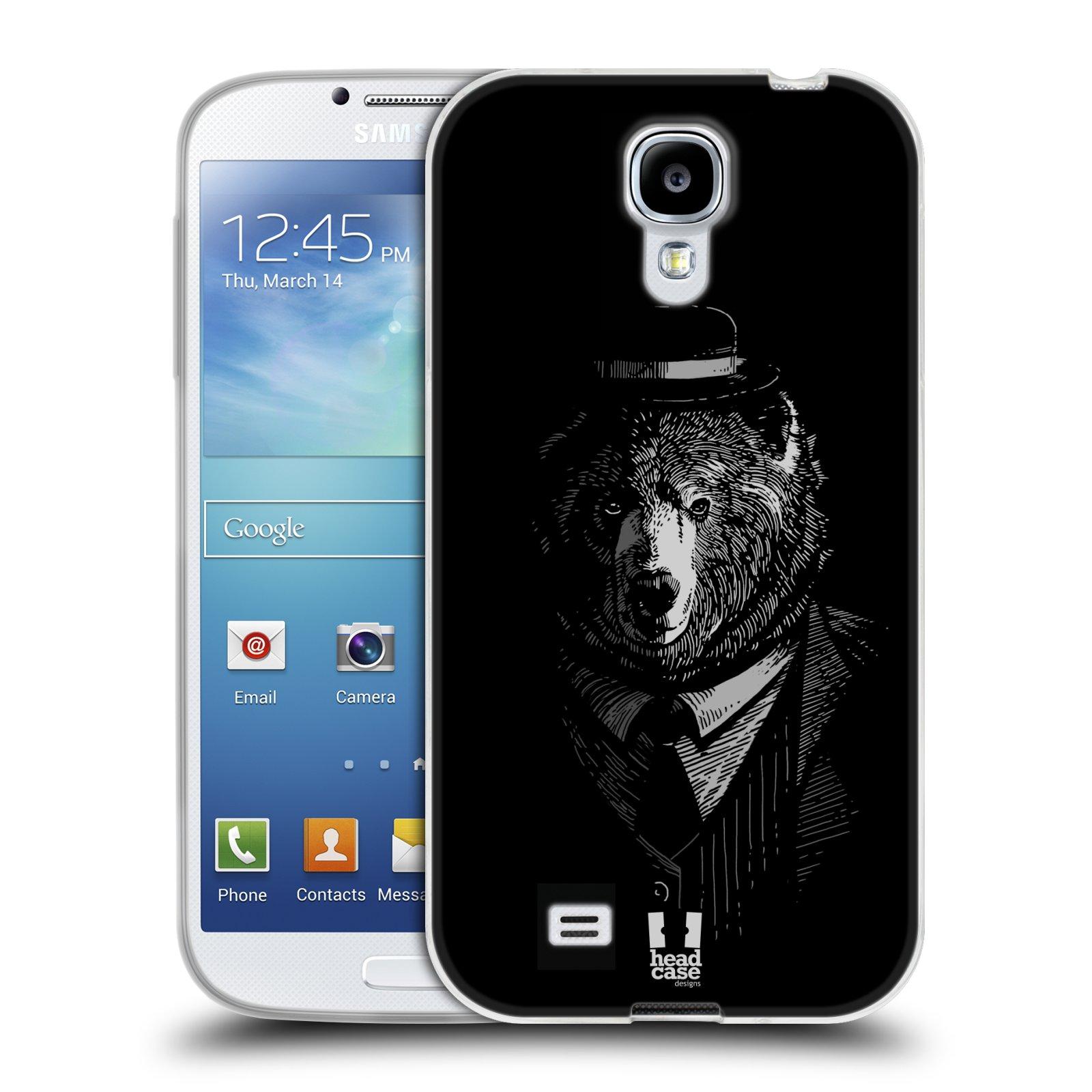 Silikonové pouzdro na mobil Samsung Galaxy S4 HEAD CASE MEDVĚD V KVÁDRU (Silikonový kryt či obal na mobilní telefon Samsung Galaxy S4 GT-i9505 / i9500)
