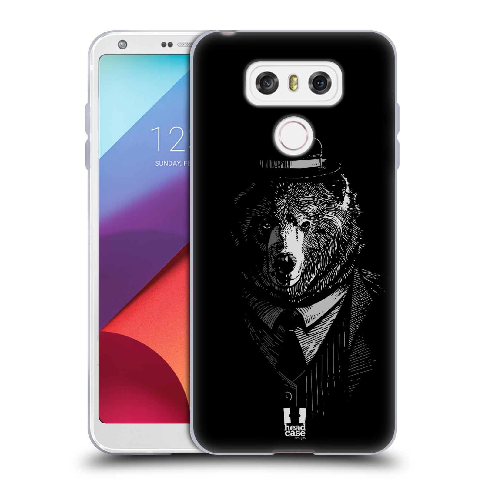 Silikonové pouzdro na mobil LG G6 - Head Case MEDVĚD V KVÁDRU (Silikonový kryt či obal na mobilní telefon LG G6 H870 / LG G6 Dual SIM H870DS)