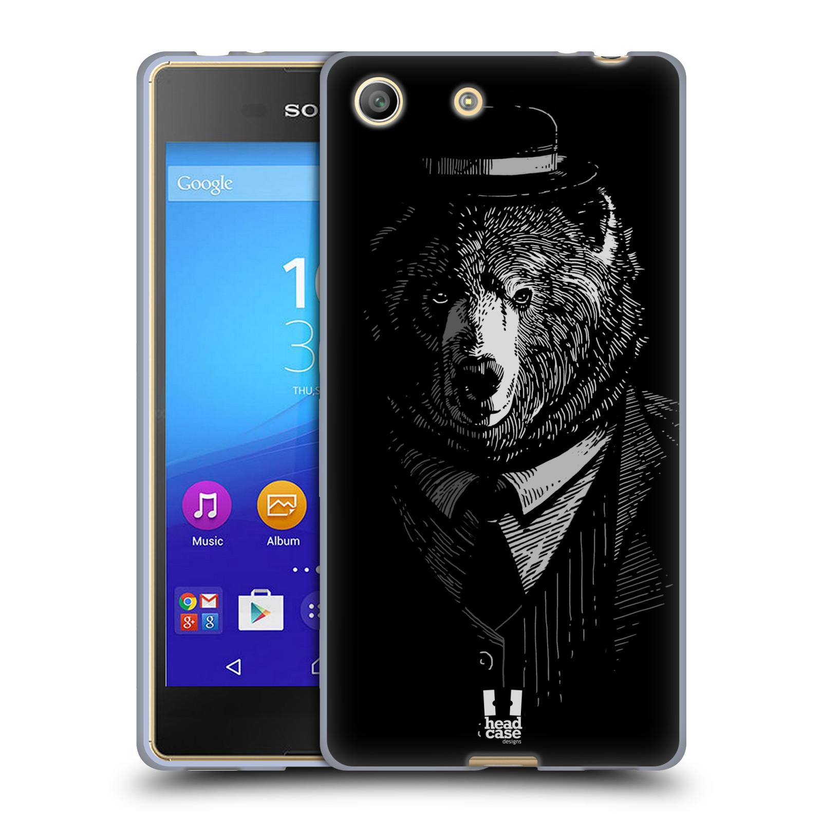 Silikonové pouzdro na mobil Sony Xperia M5 HEAD CASE MEDVĚD V KVÁDRU (Silikonový kryt či obal na mobilní telefon Sony Xperia M5 Dual SIM / Aqua)