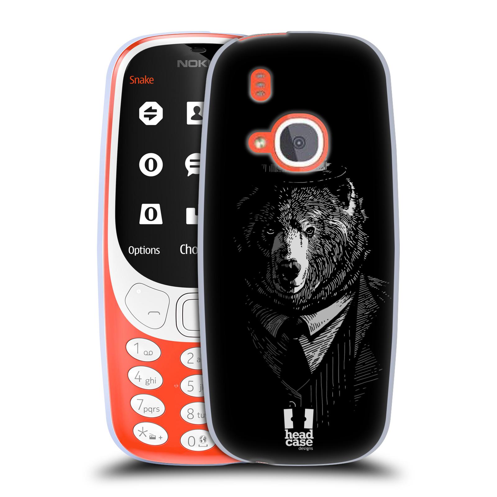 Silikonové pouzdro na mobil Nokia 3310 - Head Case - MEDVĚD V KVÁDRU (Silikonový kryt či obal na mobilní telefon Nokia 3310 (2017) s motivem MEDVĚD V KVÁDRU)