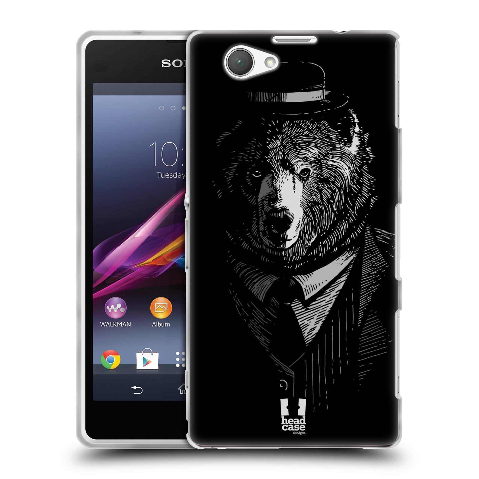Silikonové pouzdro na mobil Sony Xperia Z1 Compact D5503 HEAD CASE MEDVĚD V KVÁDRU (Silikonový kryt či obal na mobilní telefon Sony Xperia Z1 Compact)