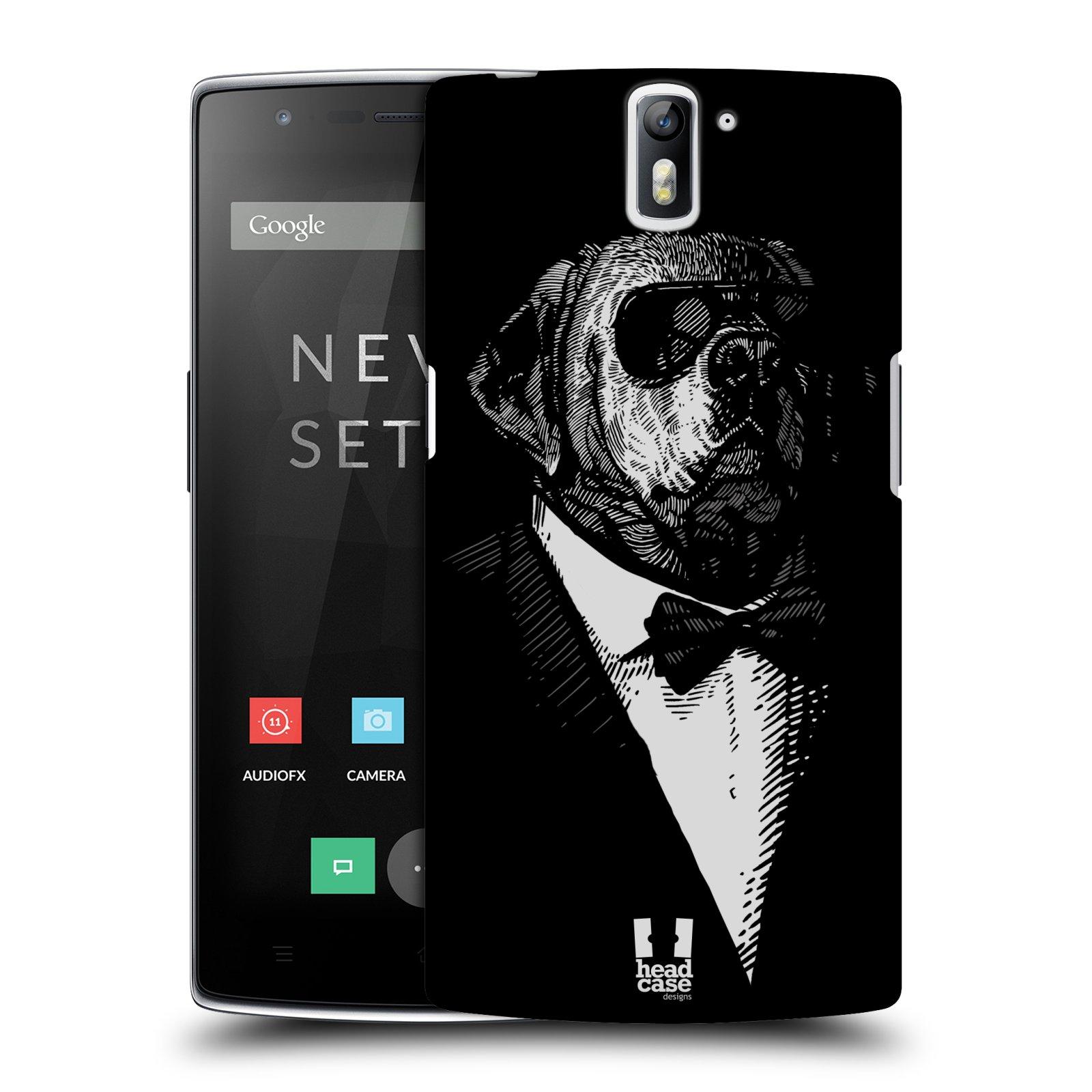 Plastové pouzdro na mobil OnePlus One HEAD CASE PSISKO V KVÁDRU (Kryt či obal na mobilní telefon OnePlus One)