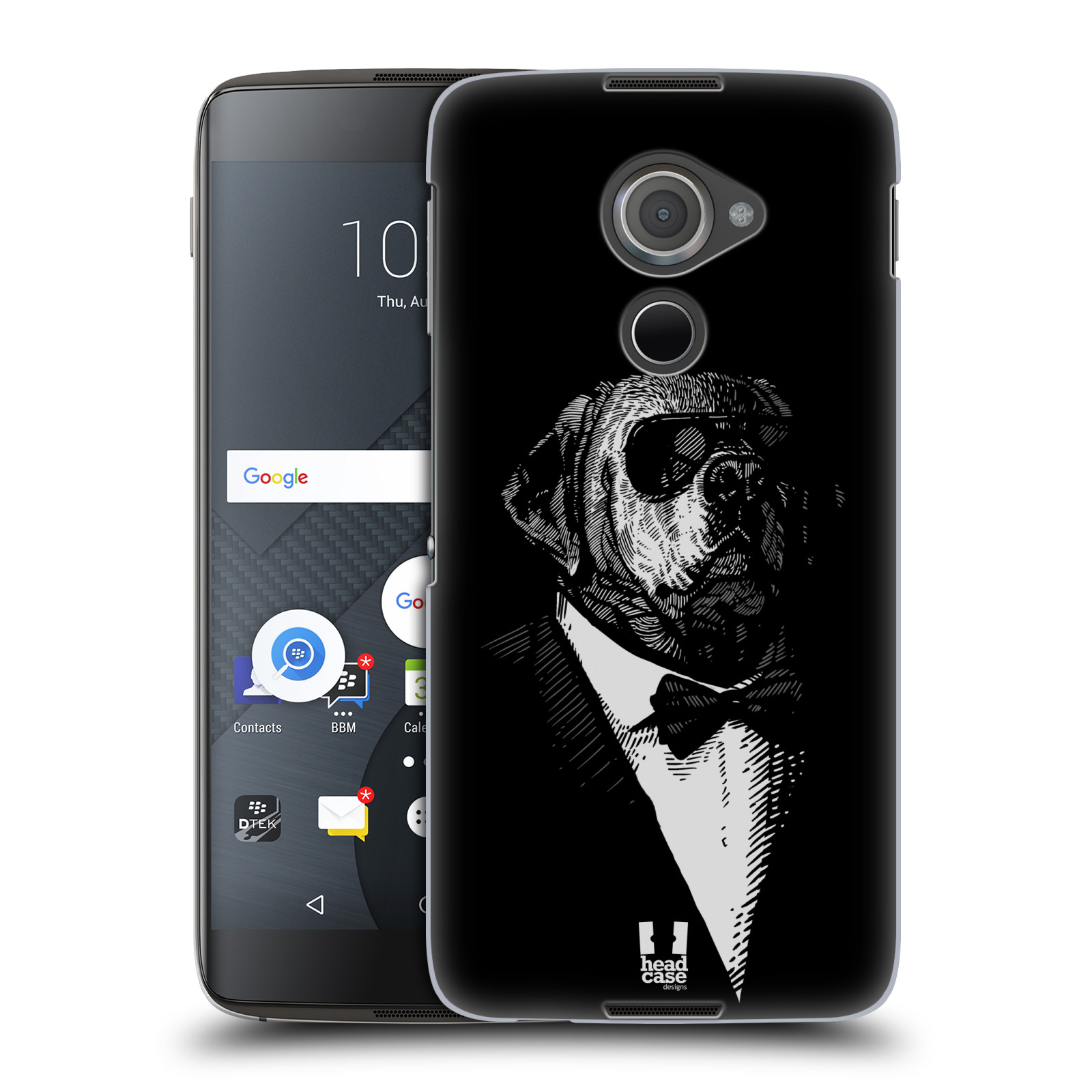 Plastové pouzdro na mobil Blackberry DTEK60 (Argon) - Head Case PSISKO V KVÁDRU (Plastový kryt či obal na mobilní telefon Blackberry DTEK60 (Argon))