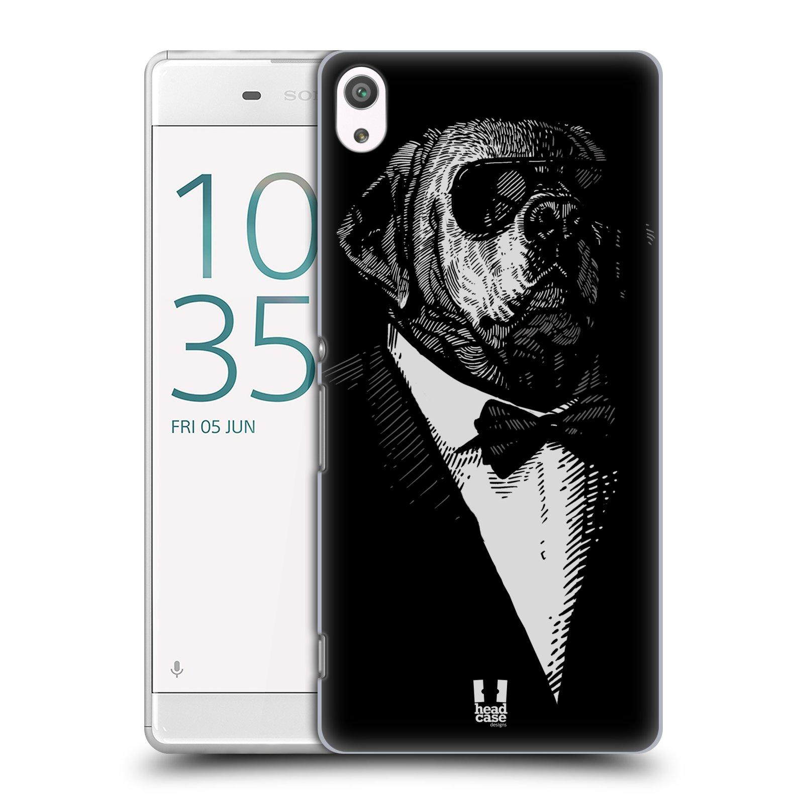 Plastové pouzdro na mobil Sony Xperia XA Ultra HEAD CASE PSISKO V KVÁDRU (Plastový kryt či obal na mobilní telefon Sony Xperia XA Ultra F3211)