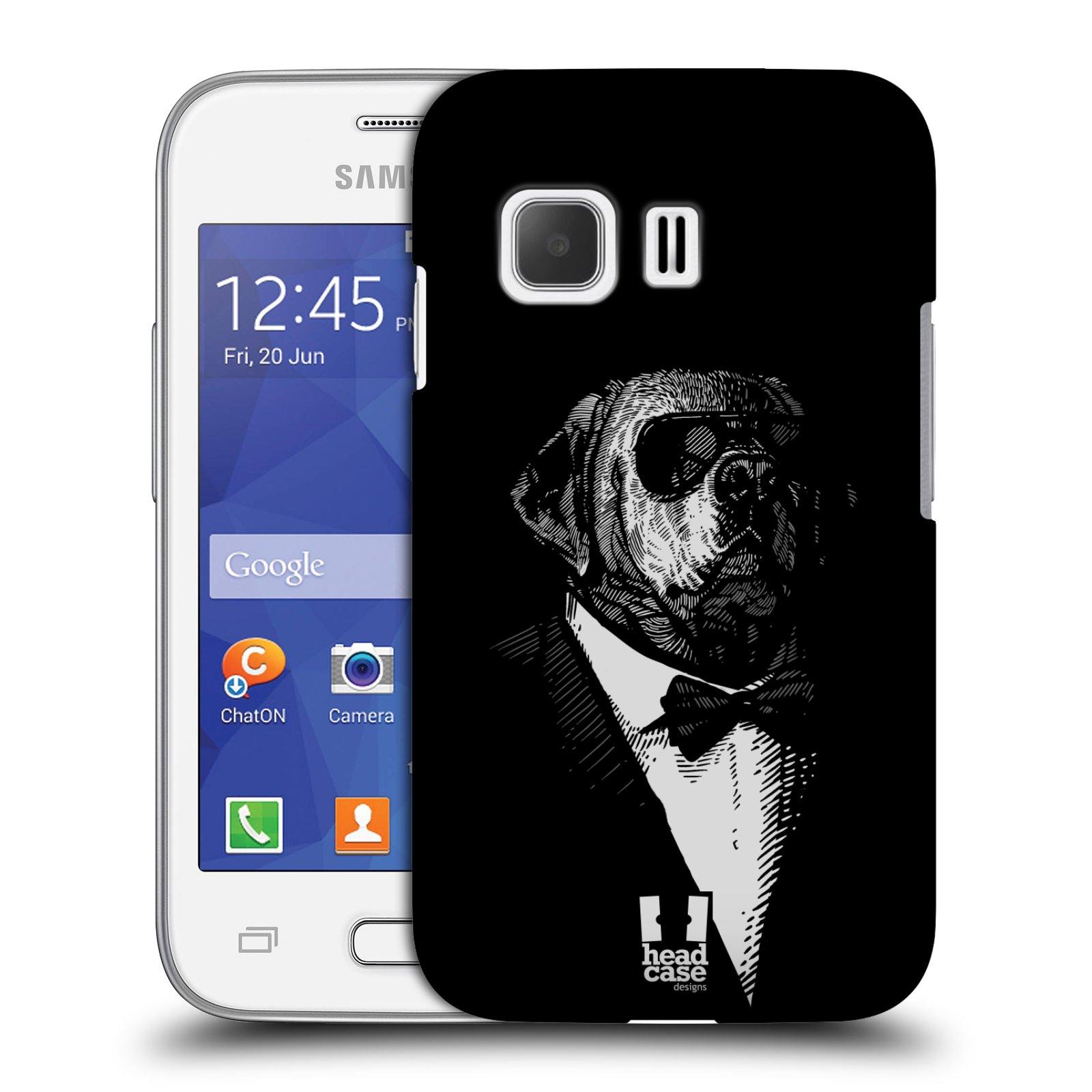 Plastové pouzdro na mobil Samsung Galaxy Young 2 HEAD CASE PSISKO V KVÁDRU (Kryt či obal na mobilní telefon Samsung Galaxy Young 2 SM-G130)