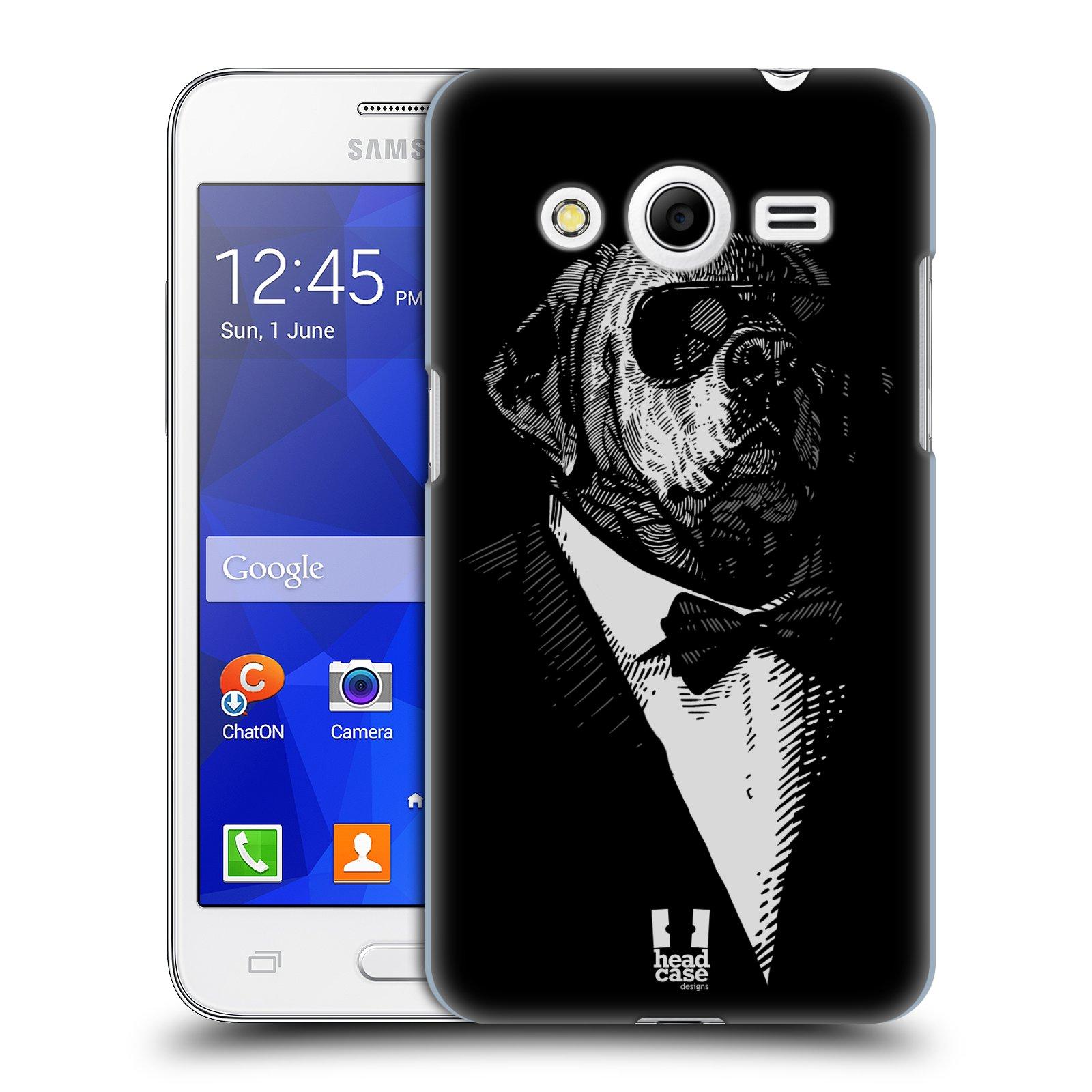 Plastové pouzdro na mobil Samsung Galaxy Core 2 HEAD CASE PSISKO V KVÁDRU (Kryt či obal na mobilní telefon Samsung Galaxy Core 2 SM-G355H)