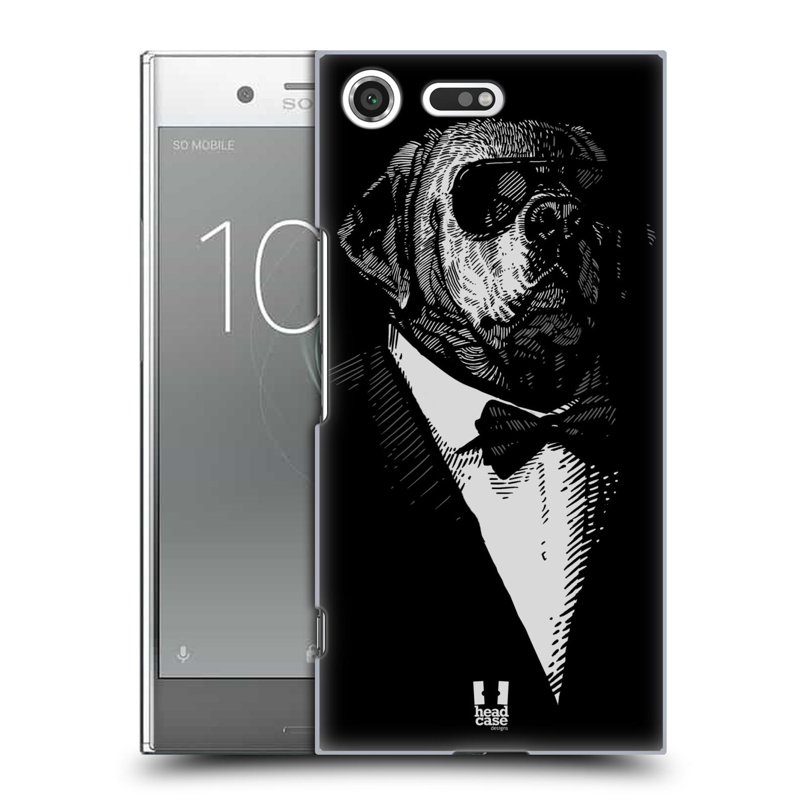 Plastové pouzdro na mobil Sony Xperia XZ Premium Head Case - PSISKO V KVÁDRU (Plastový kryt či obal na mobilní telefon Sony Xperia XZ Premium G8142)