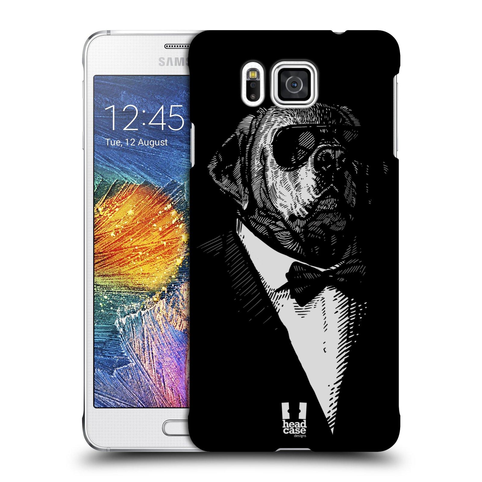 Plastové pouzdro na mobil Samsung Galaxy Alpha HEAD CASE PSISKO V KVÁDRU (Kryt či obal na mobilní telefon Samsung Galaxy Alpha SM-G850)