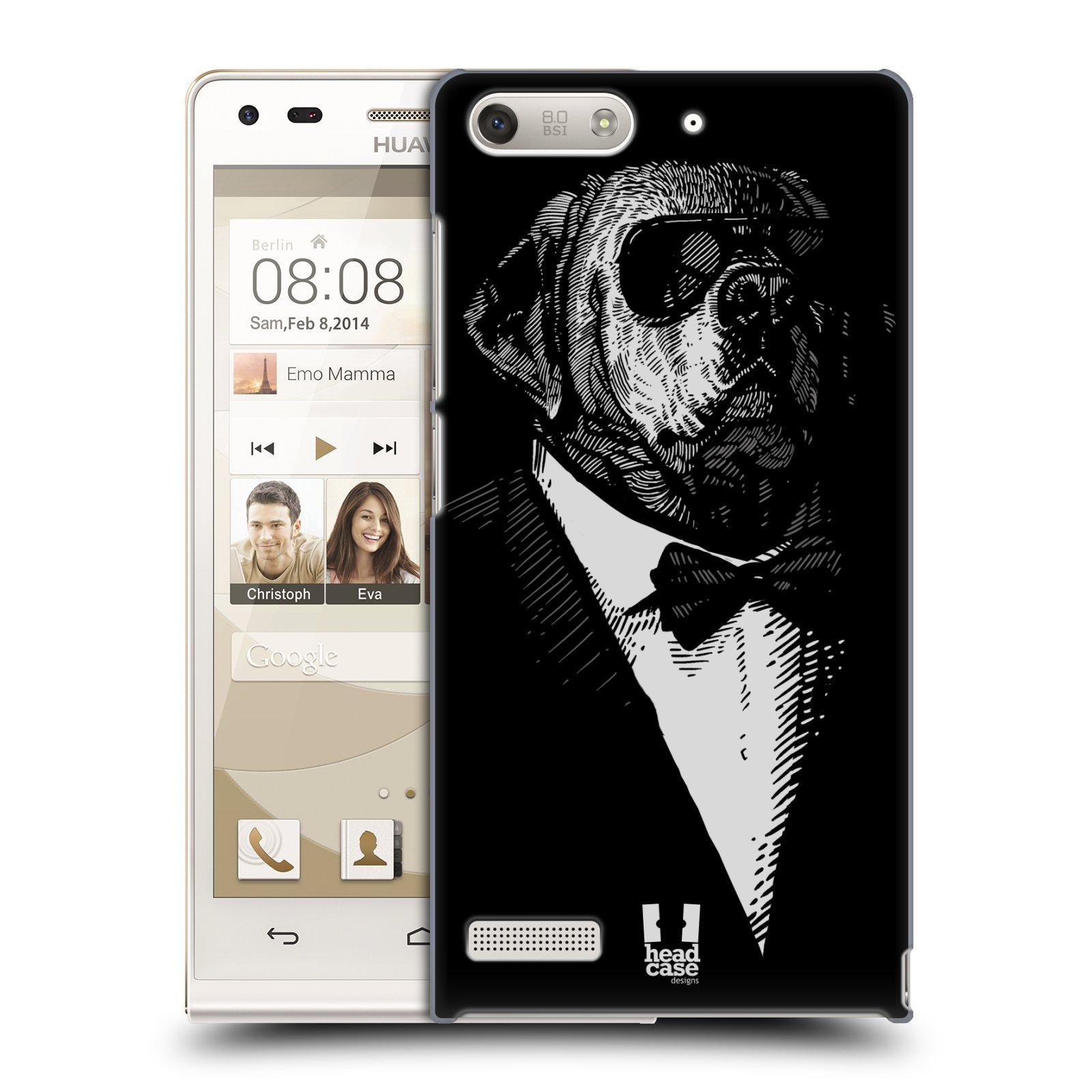 Plastové pouzdro na mobil Huawei Ascend G6 HEAD CASE PSISKO V KVÁDRU (Kryt či obal na mobilní telefon Huawei Ascend G6 bez LTE)