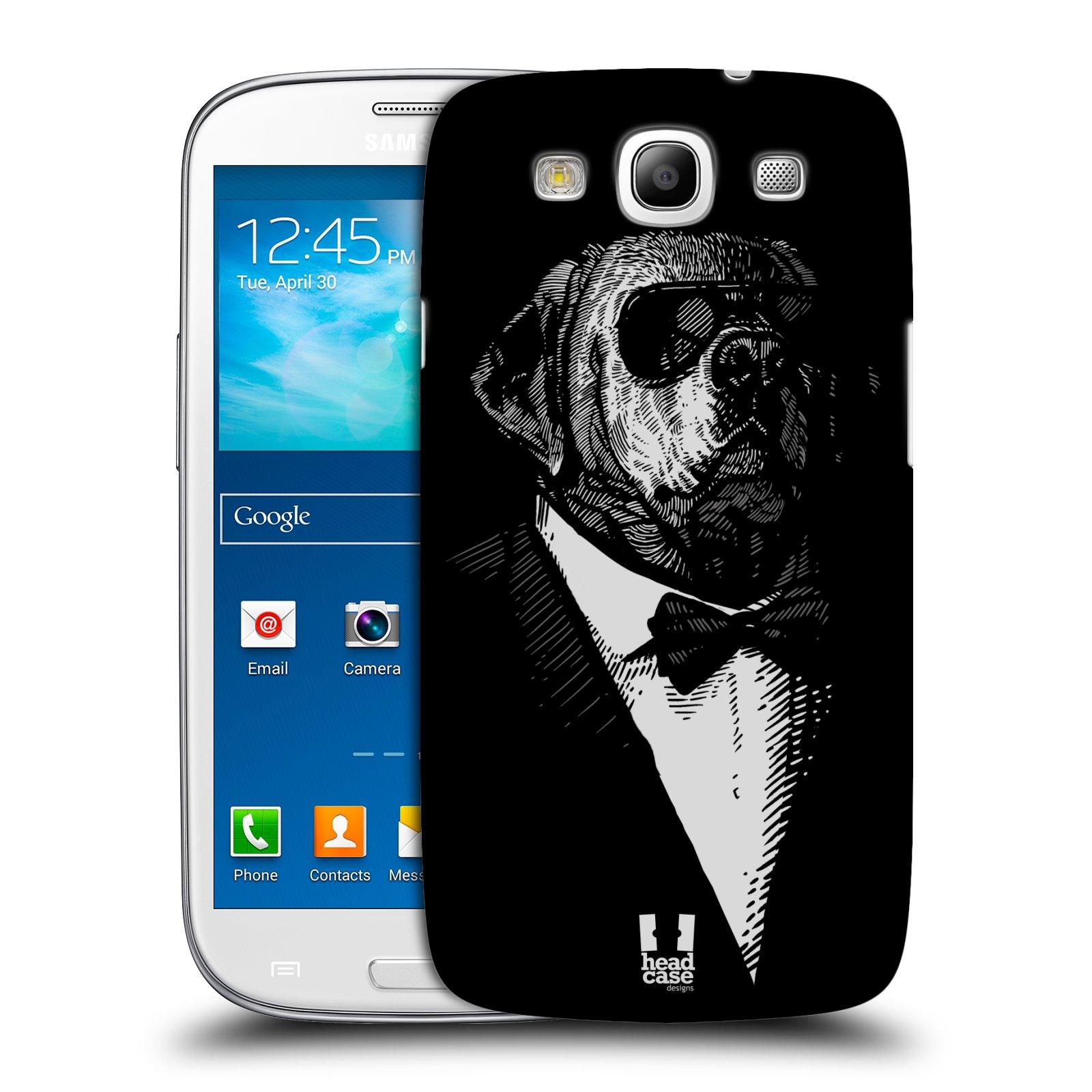 Plastové pouzdro na mobil Samsung Galaxy S3 Neo HEAD CASE PSISKO V KVÁDRU